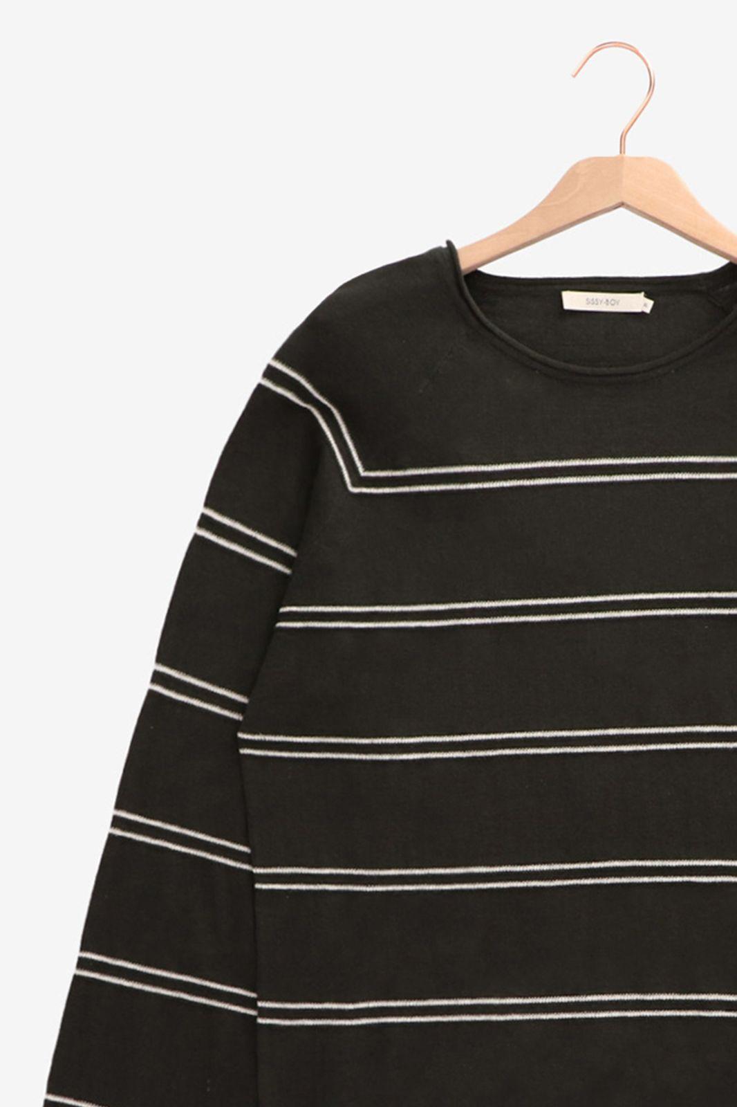 Donkergroene fine knit trui