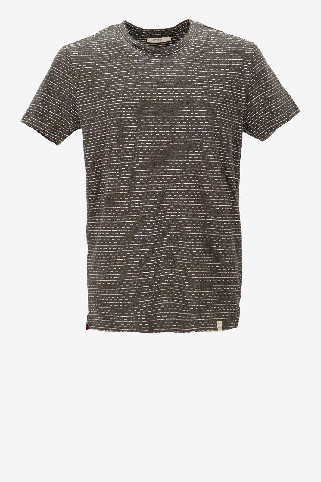 Donkergroen T-shirt met motief