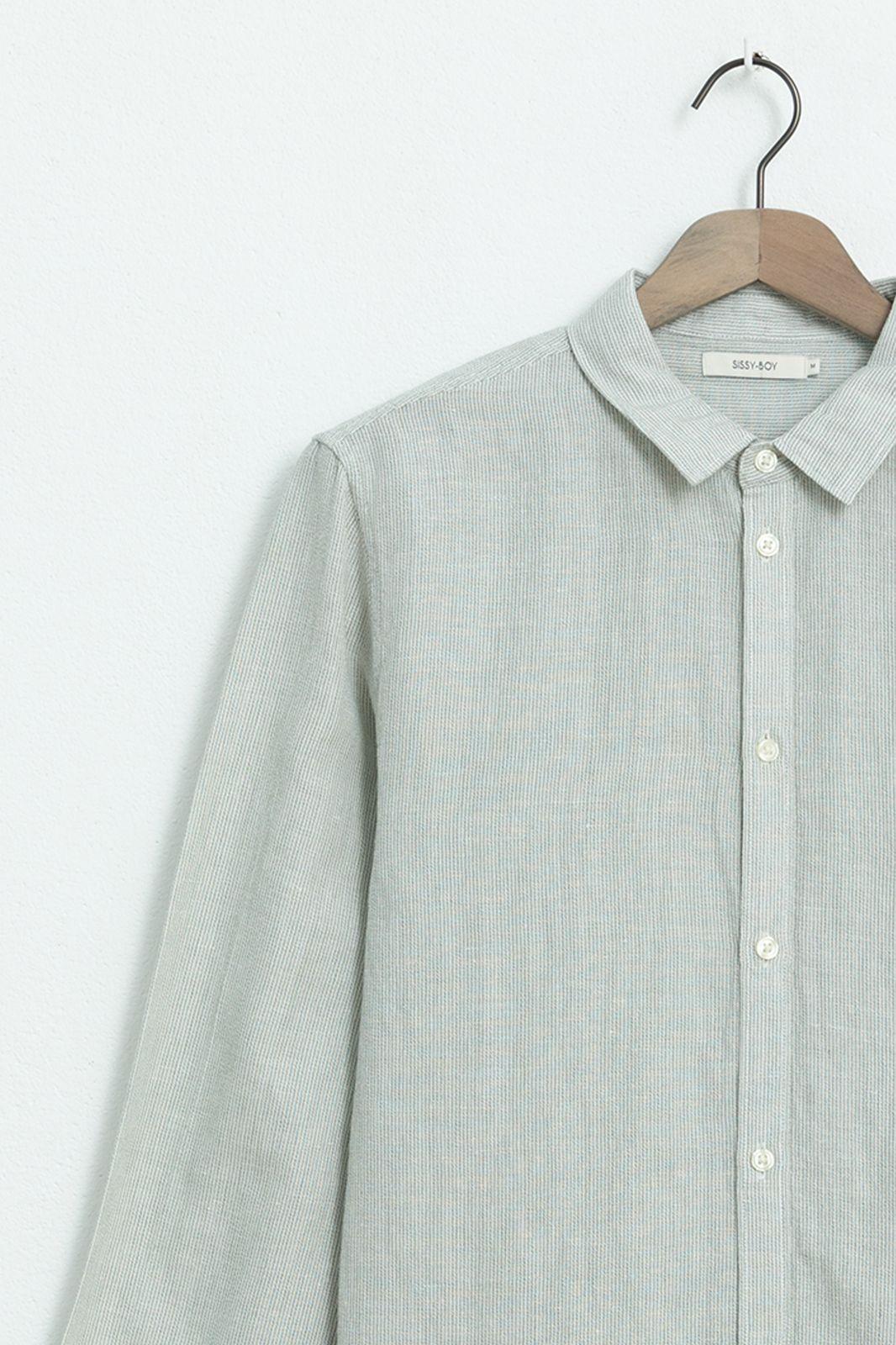 Lichtgroen linnen overhemd - Heren | Sissy-Boy