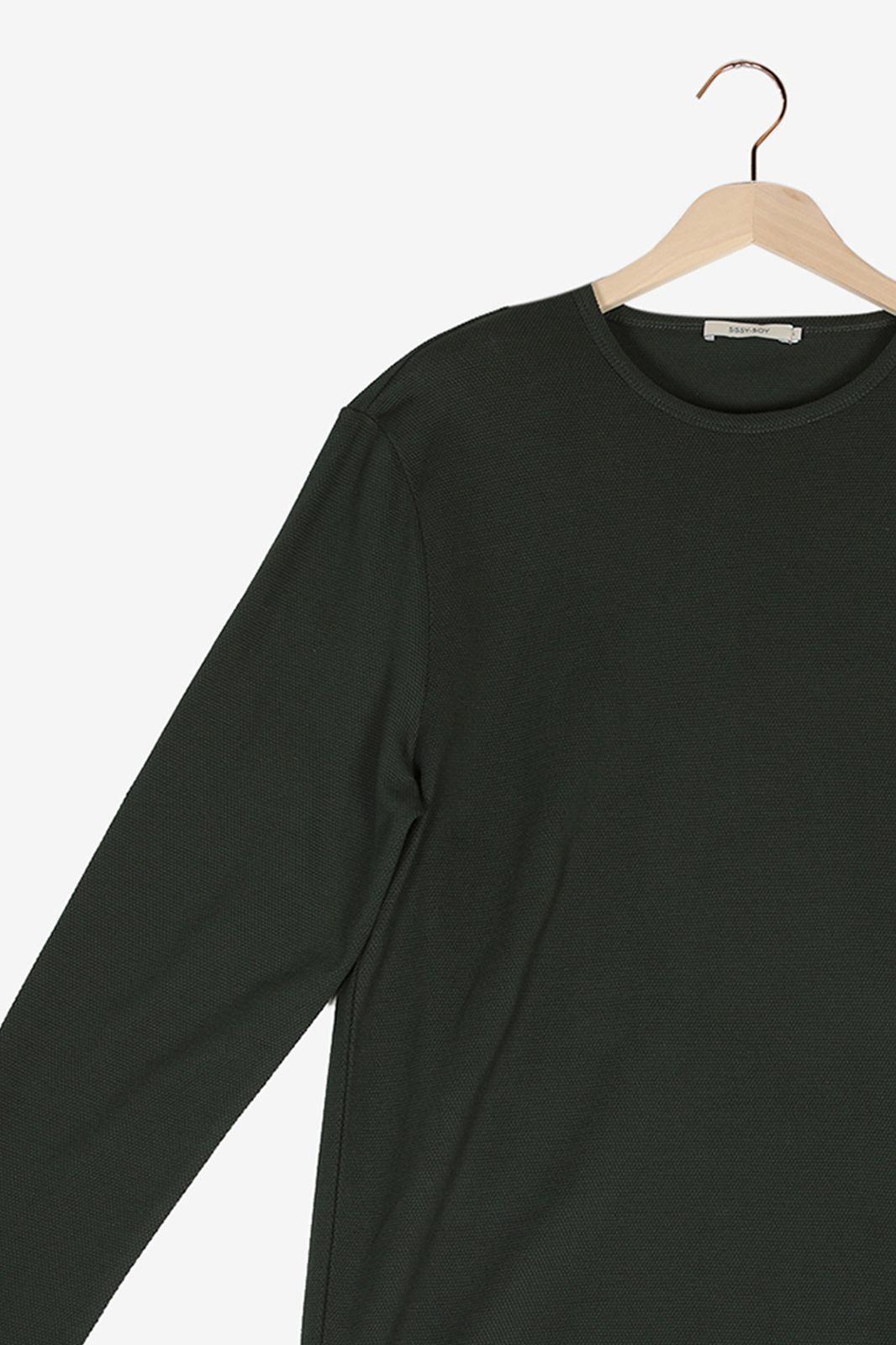 Groen T-shirt lange mouwen - Heren | Sissy-Boy