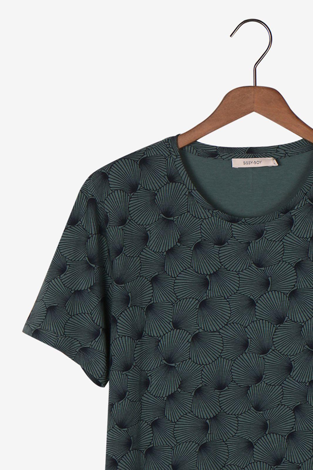 Groen t-shirt met schelpenmotief