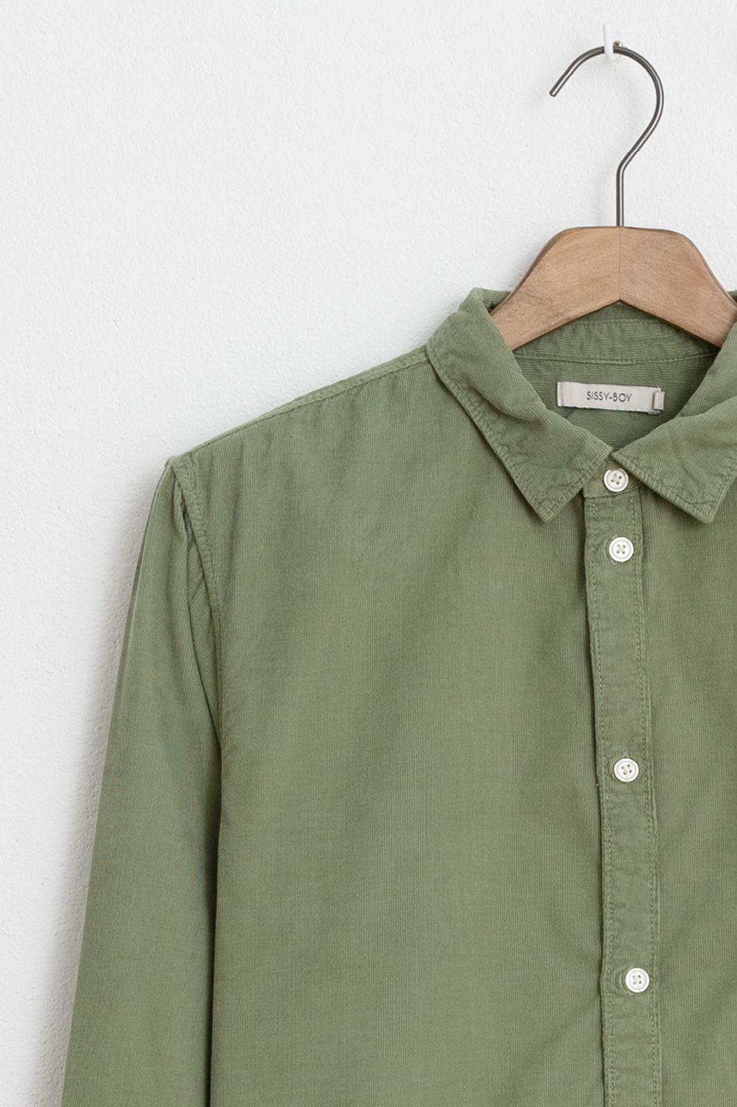 Groen corduroy overhemd - Heren   Sissy-Boy