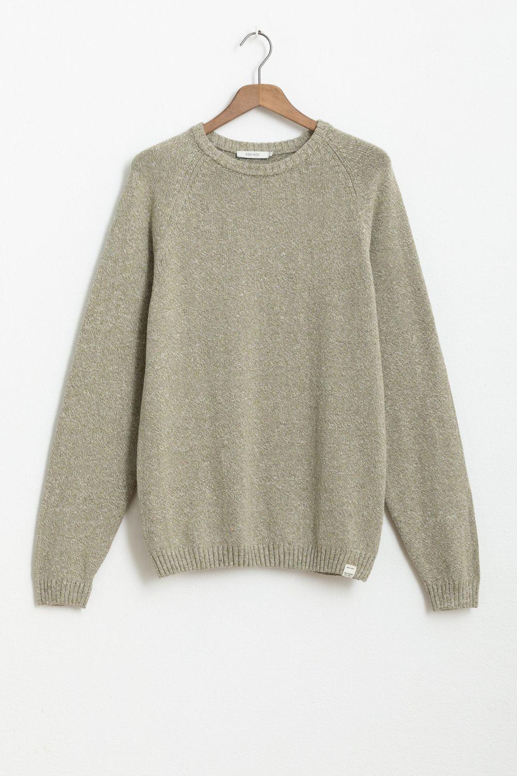 Groene trui van recycled katoen - Heren   Sissy-Boy