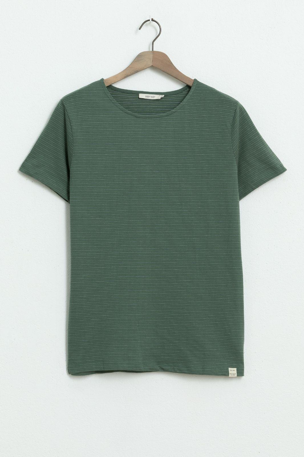 Groen T-shirt met dots