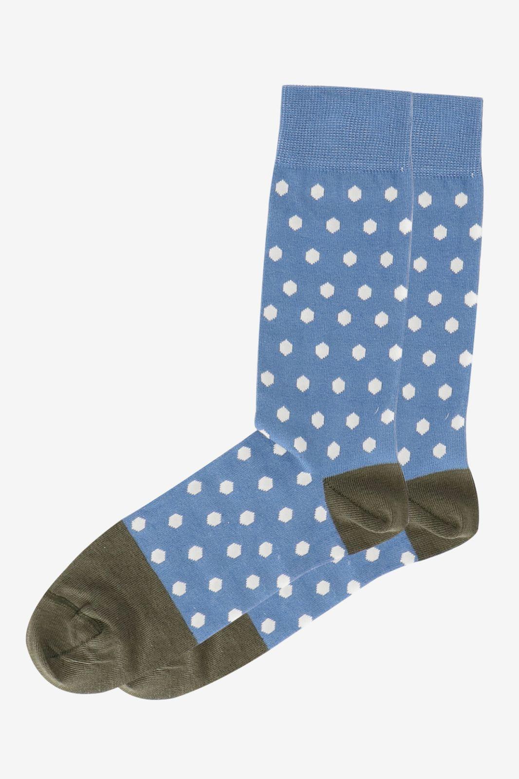 Blauwe sok met stippen - Heren | Sissy-Boy