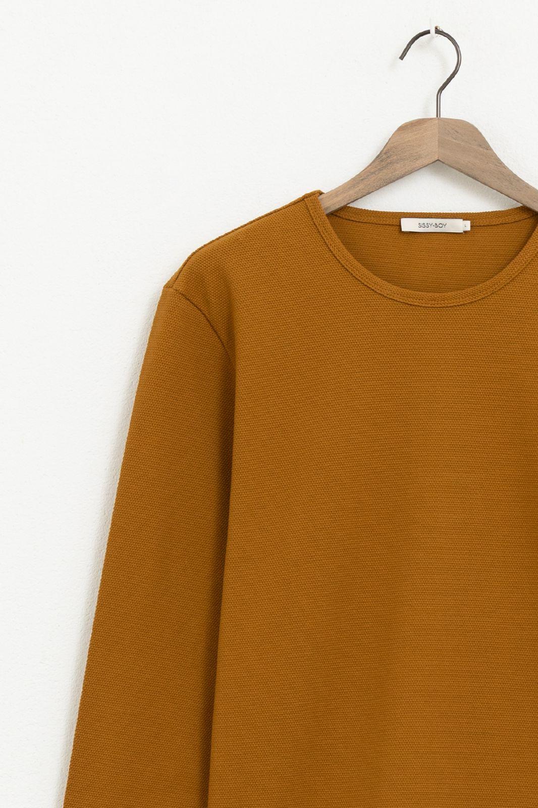 Bruin T-shirt structuur