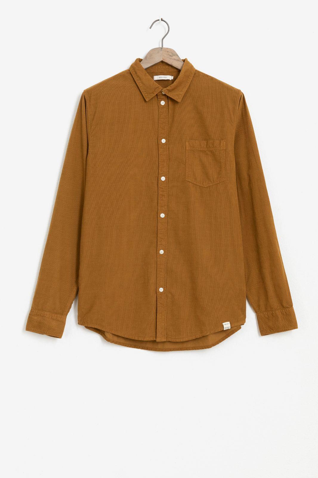 Bruin corduroy overhemd - Heren | Sissy-Boy