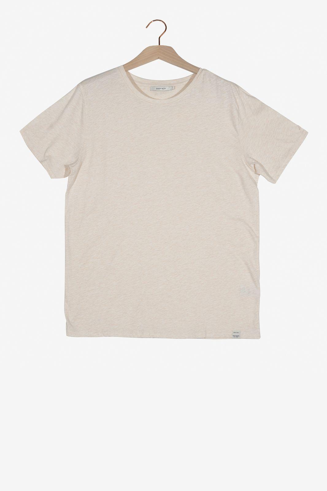 Lichtoranje organic melee T-shirt