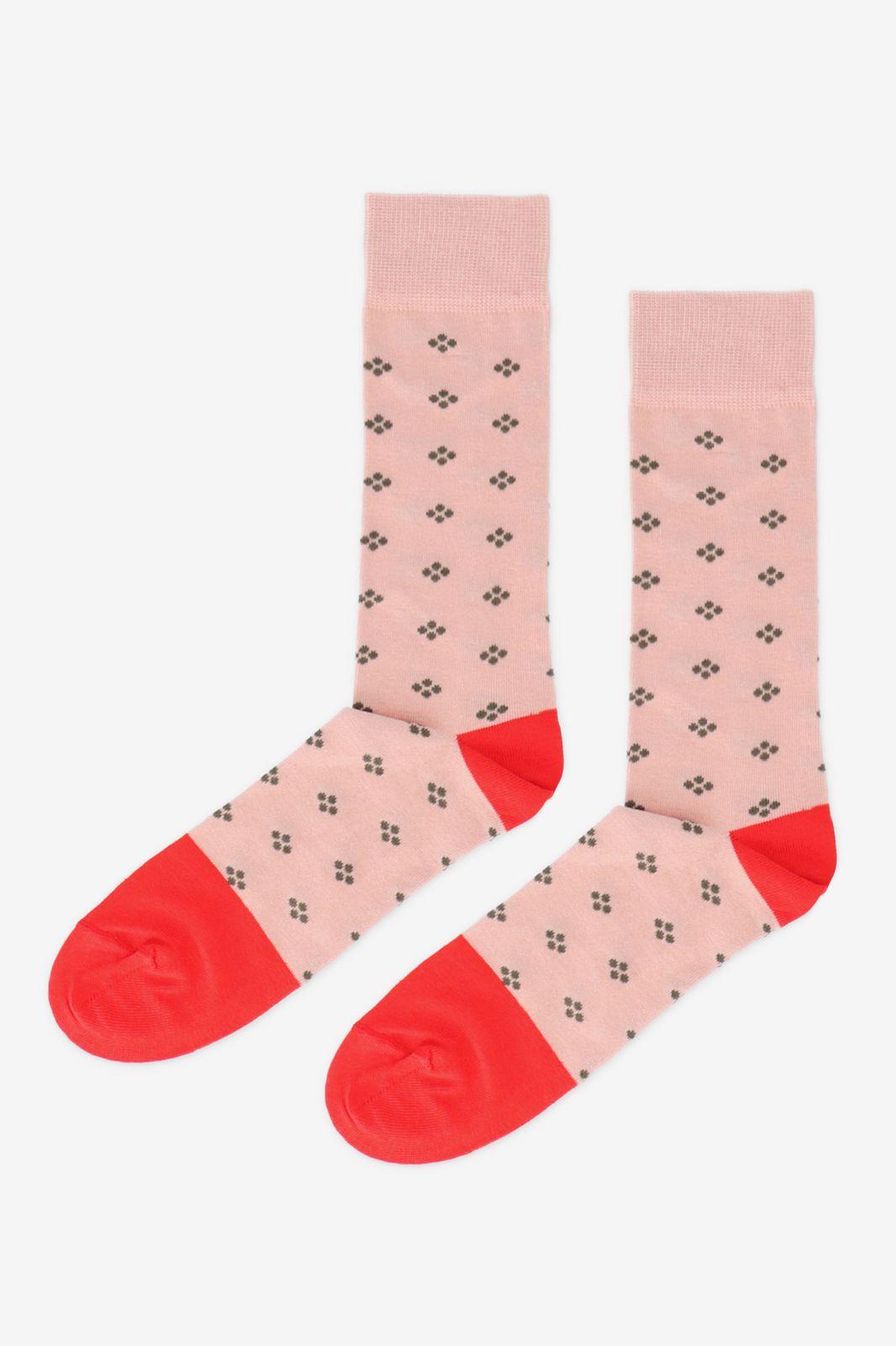 Roze sokken met print