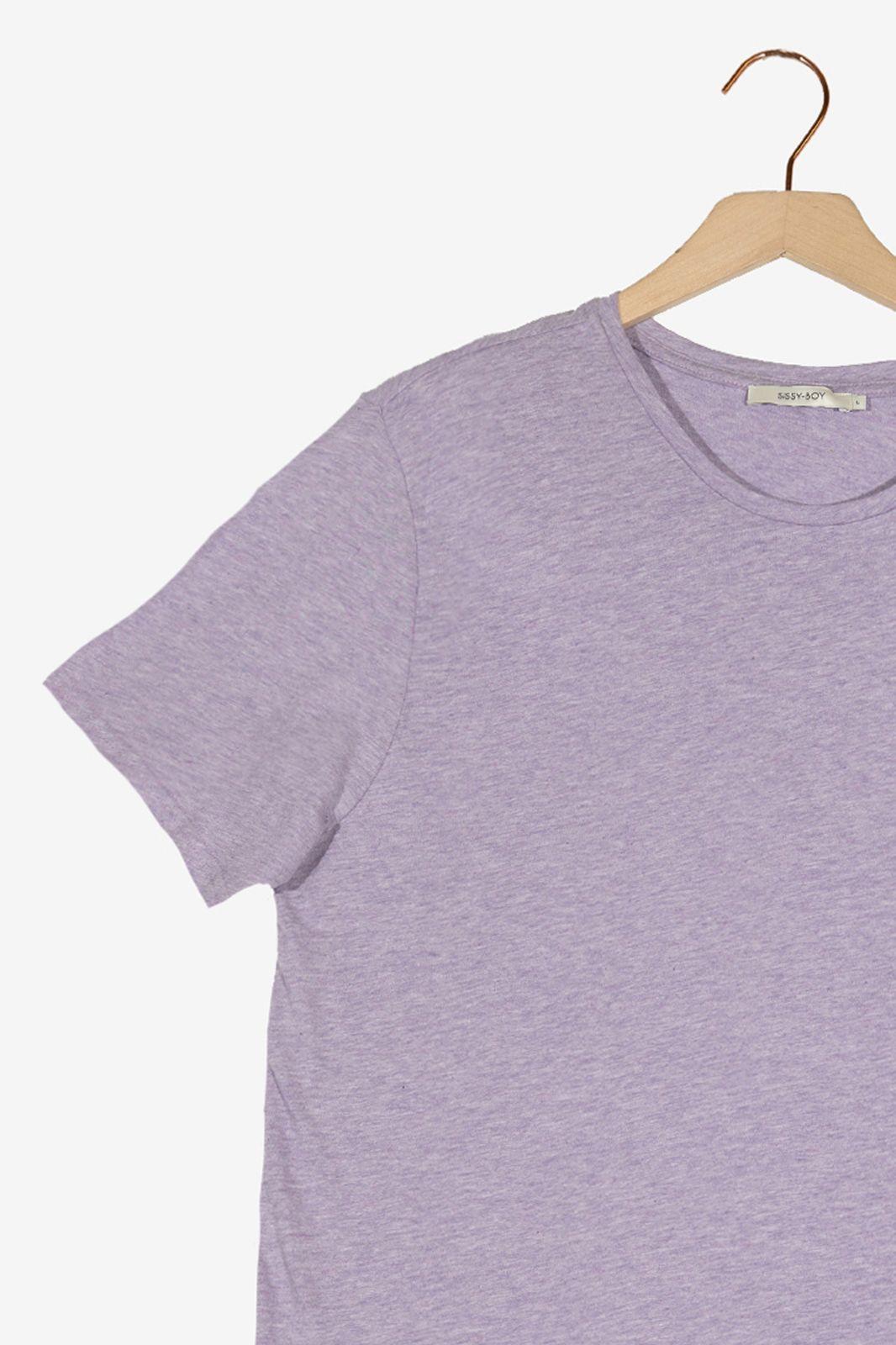 Lila organic katoen melange T-shirt - Heren | Sissy-Boy