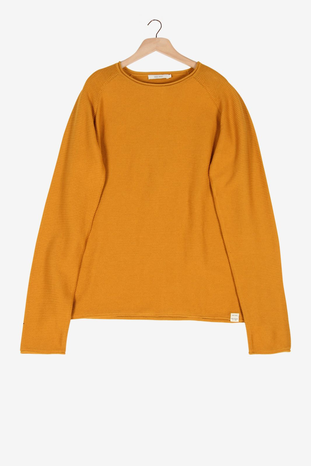 Okergele rib sweater - Heren   Sissy-Boy