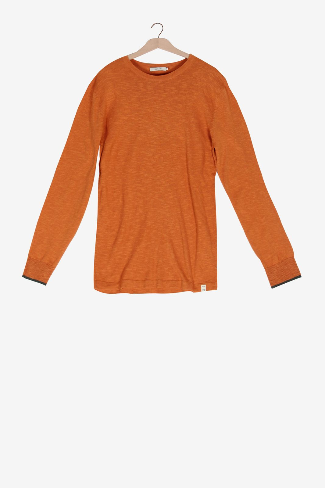 Oranje linnen trui