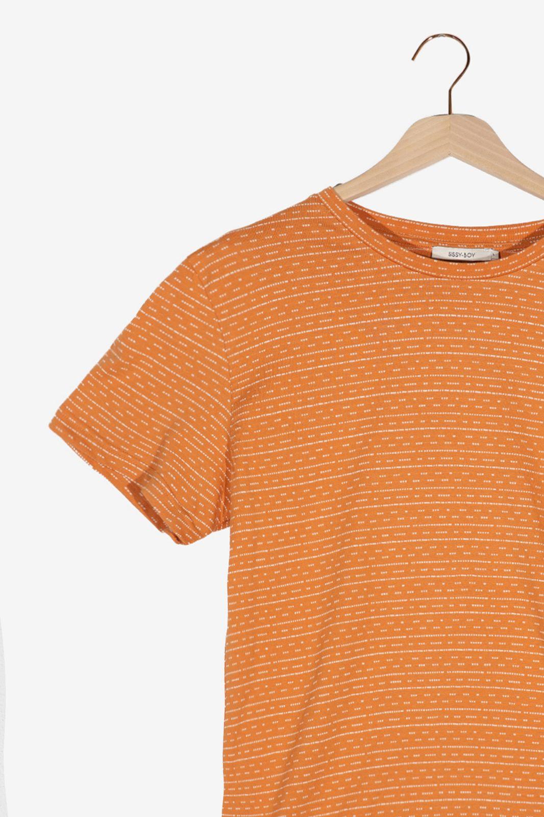 Oranje T-shirt met motief - Heren | Sissy-Boy
