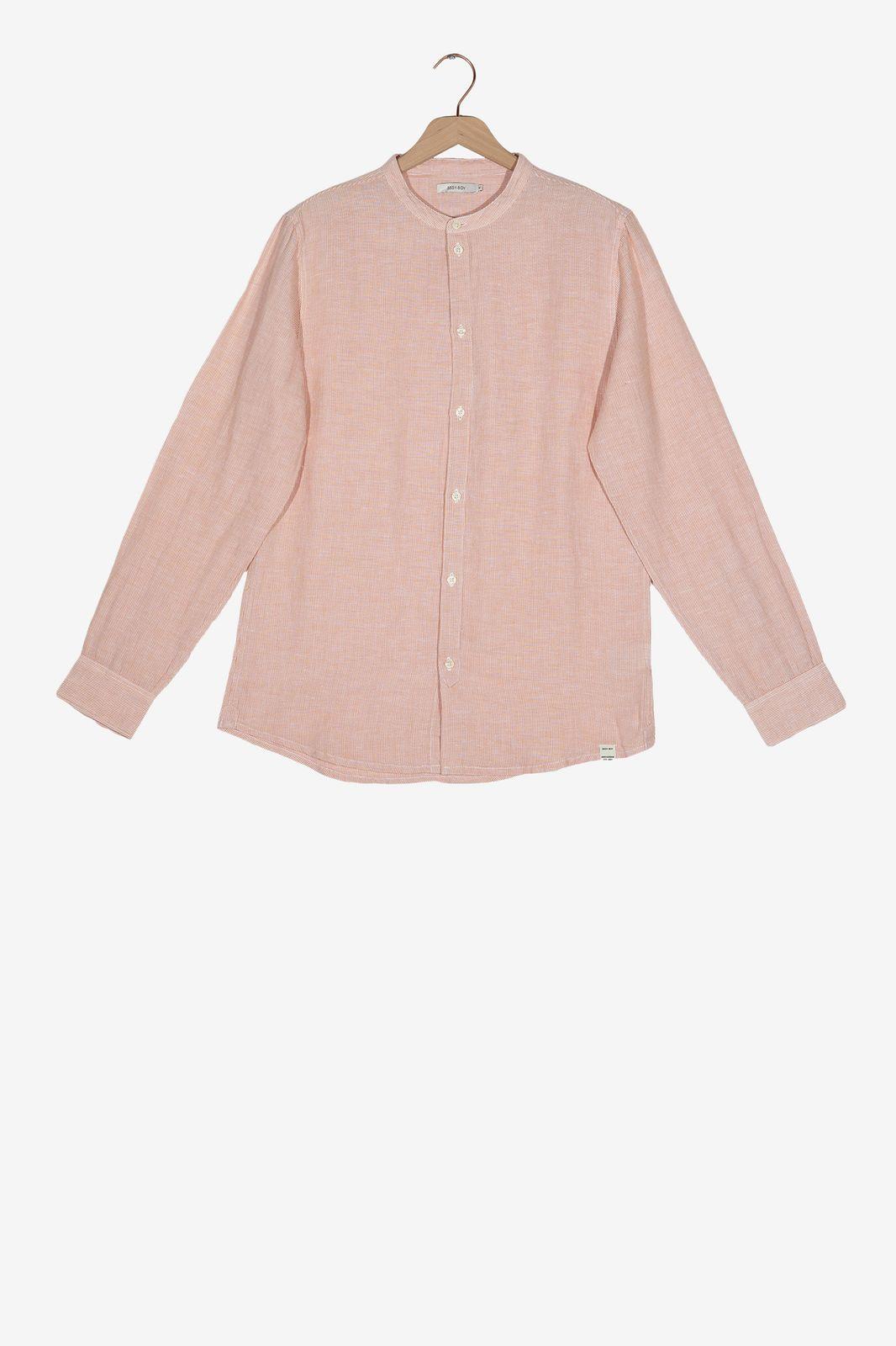 Oranje gestreept overhemd - Heren | Sissy-Boy