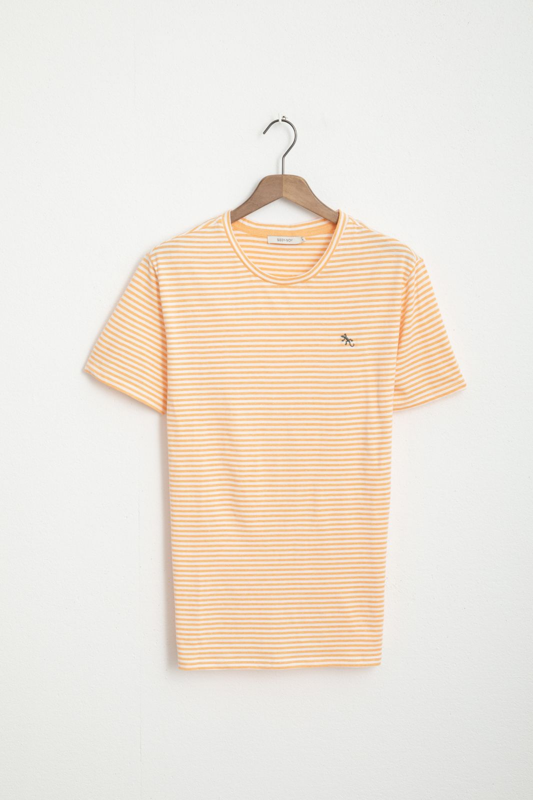 Oranje T-shirt gestreept