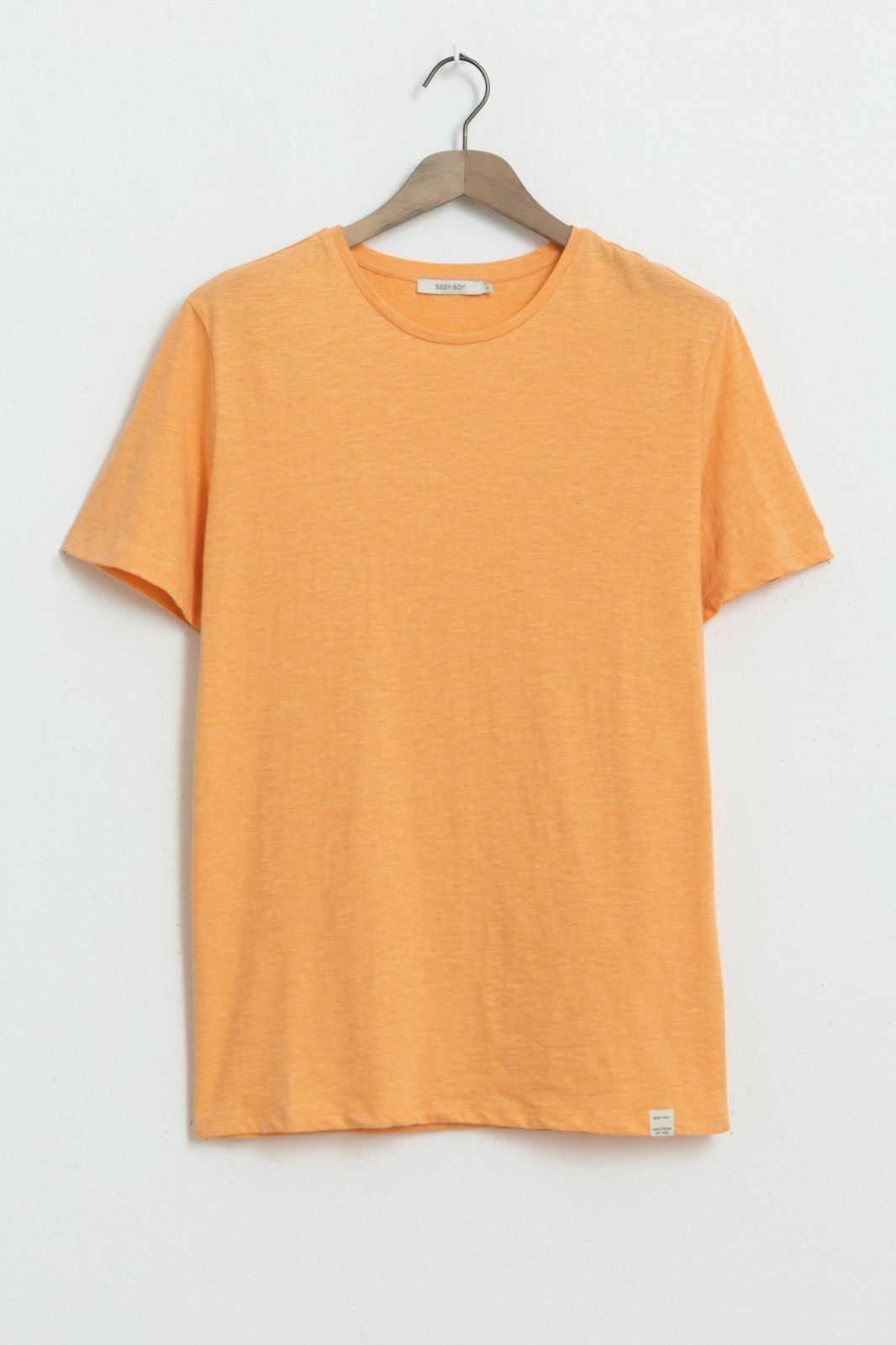 Oranje basic T-shirt melange - Heren | Sissy-Boy