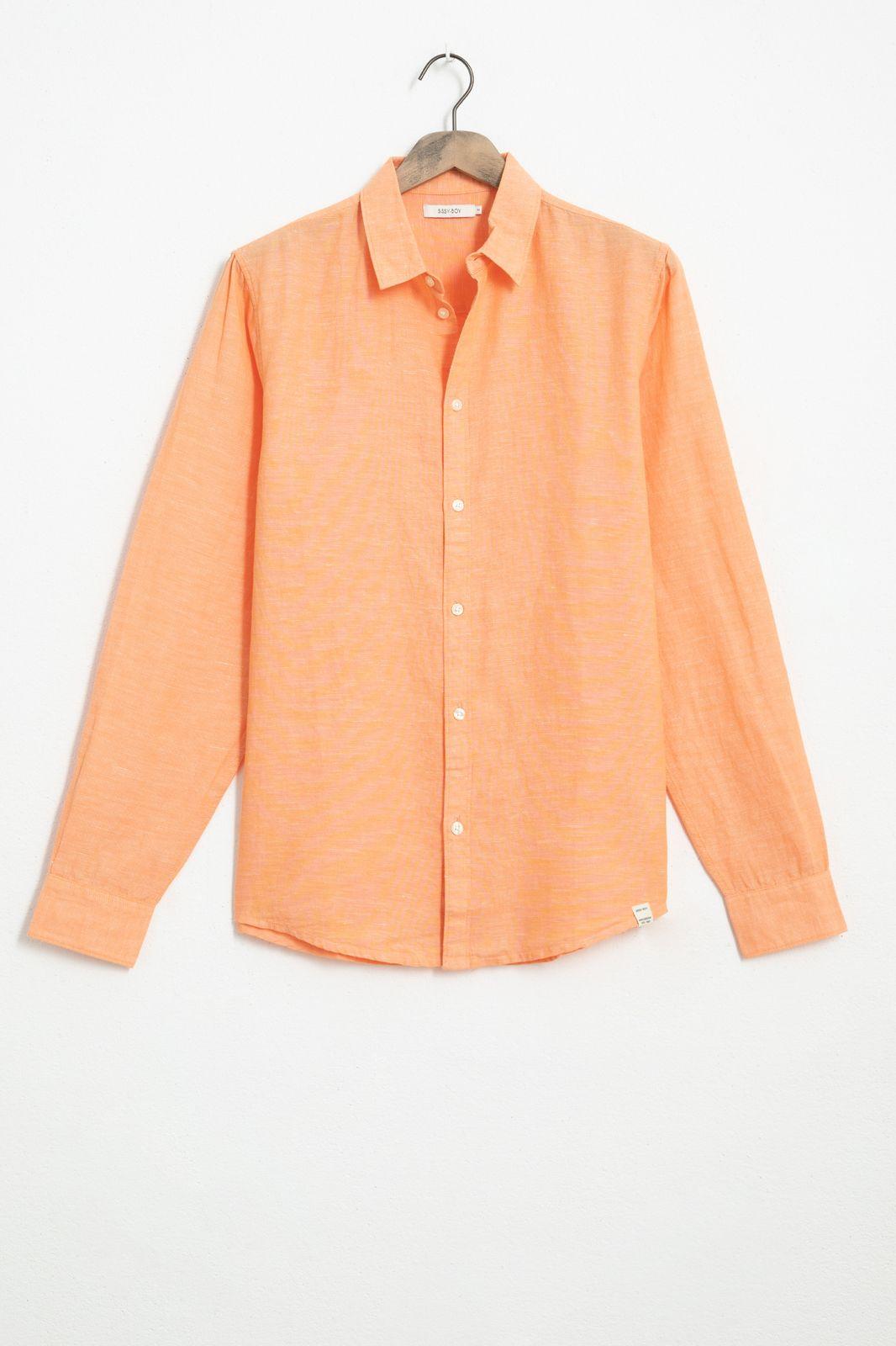 Oranje katoenen overhemd - Heren   Sissy-Boy