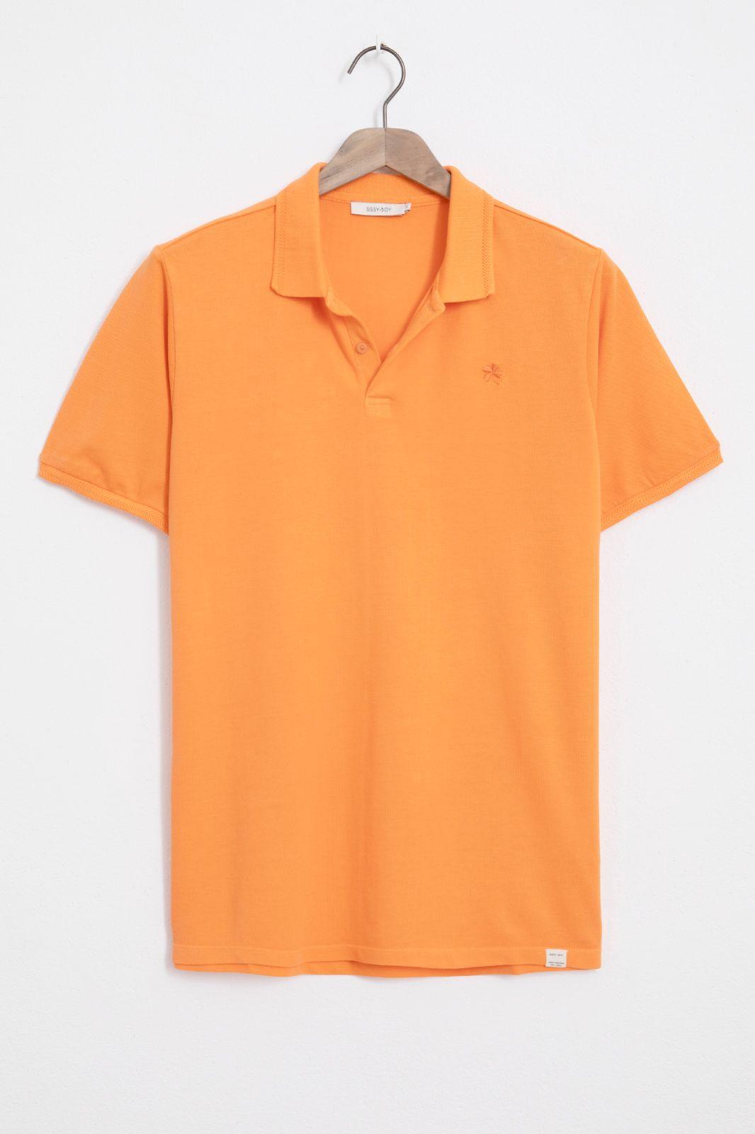 Oranje pique polo