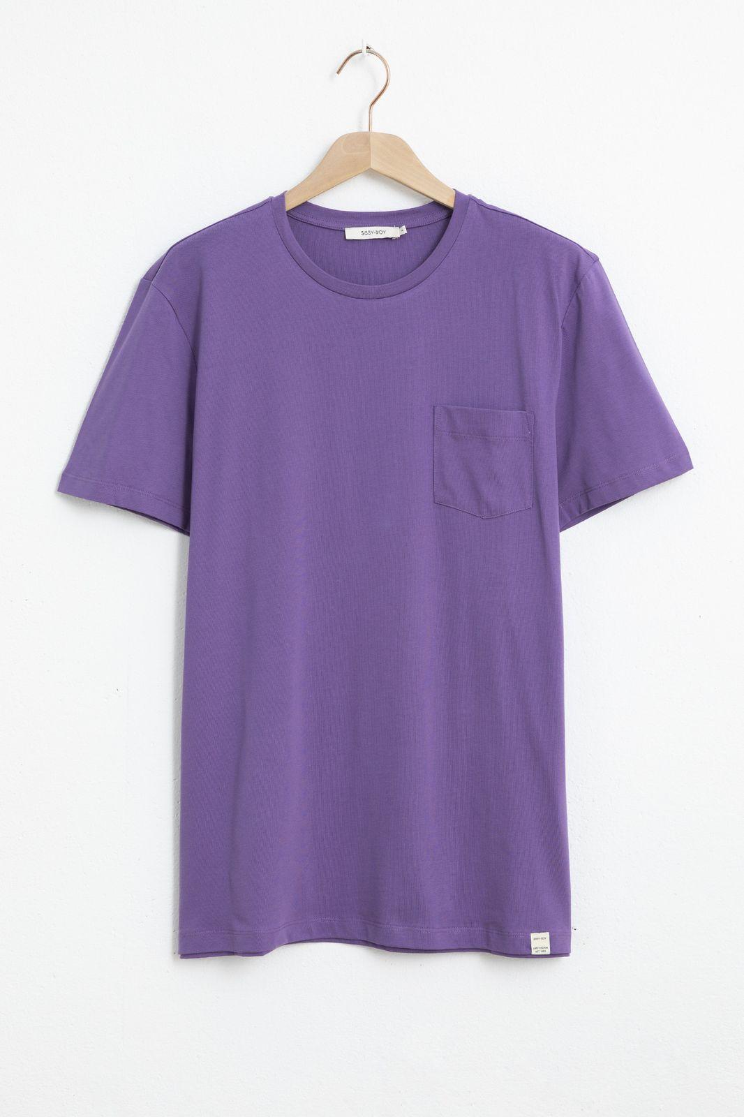 Paars basis T-shirt