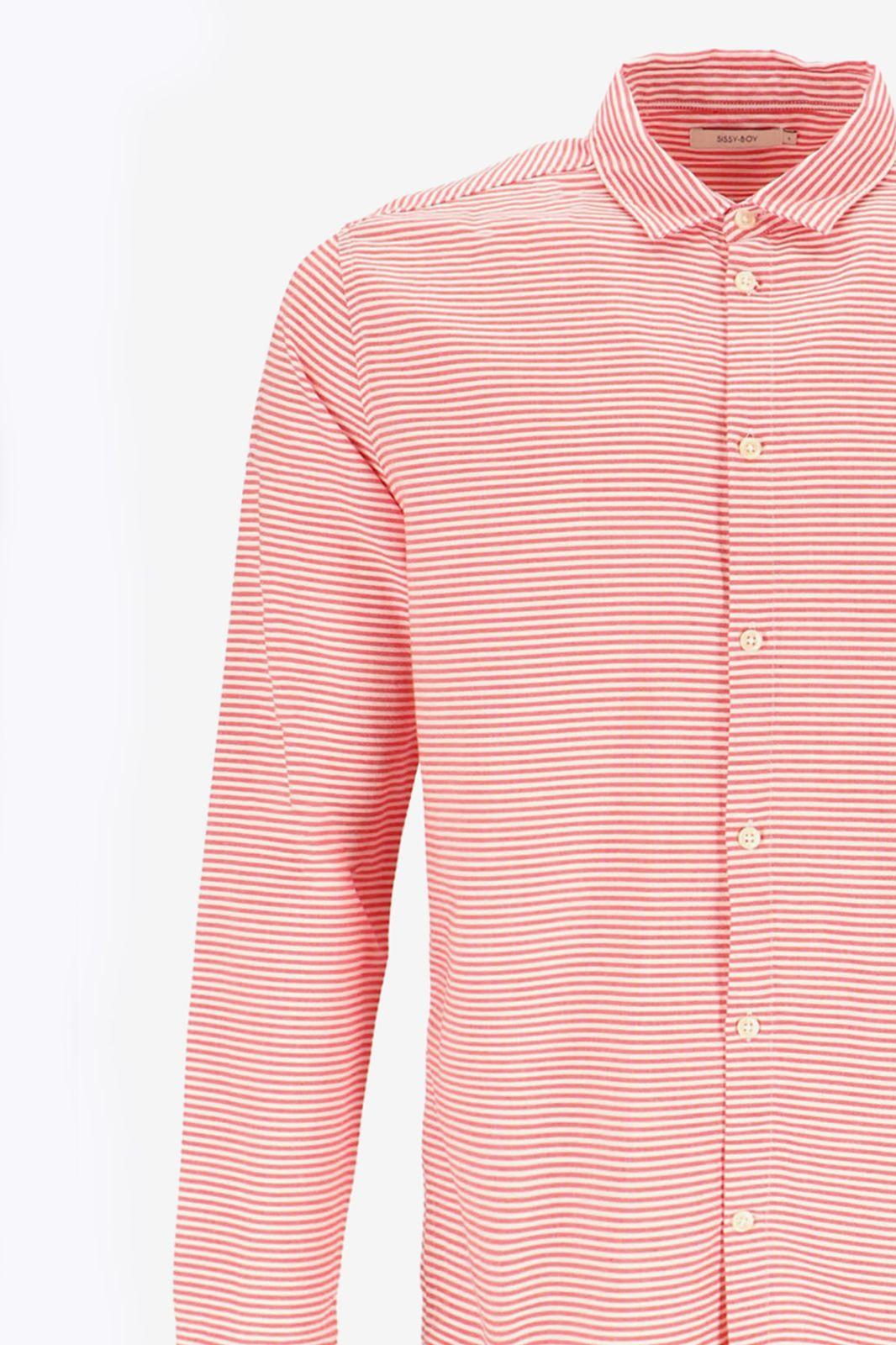 Rood gestreept overhemd - Heren | Sissy-Boy