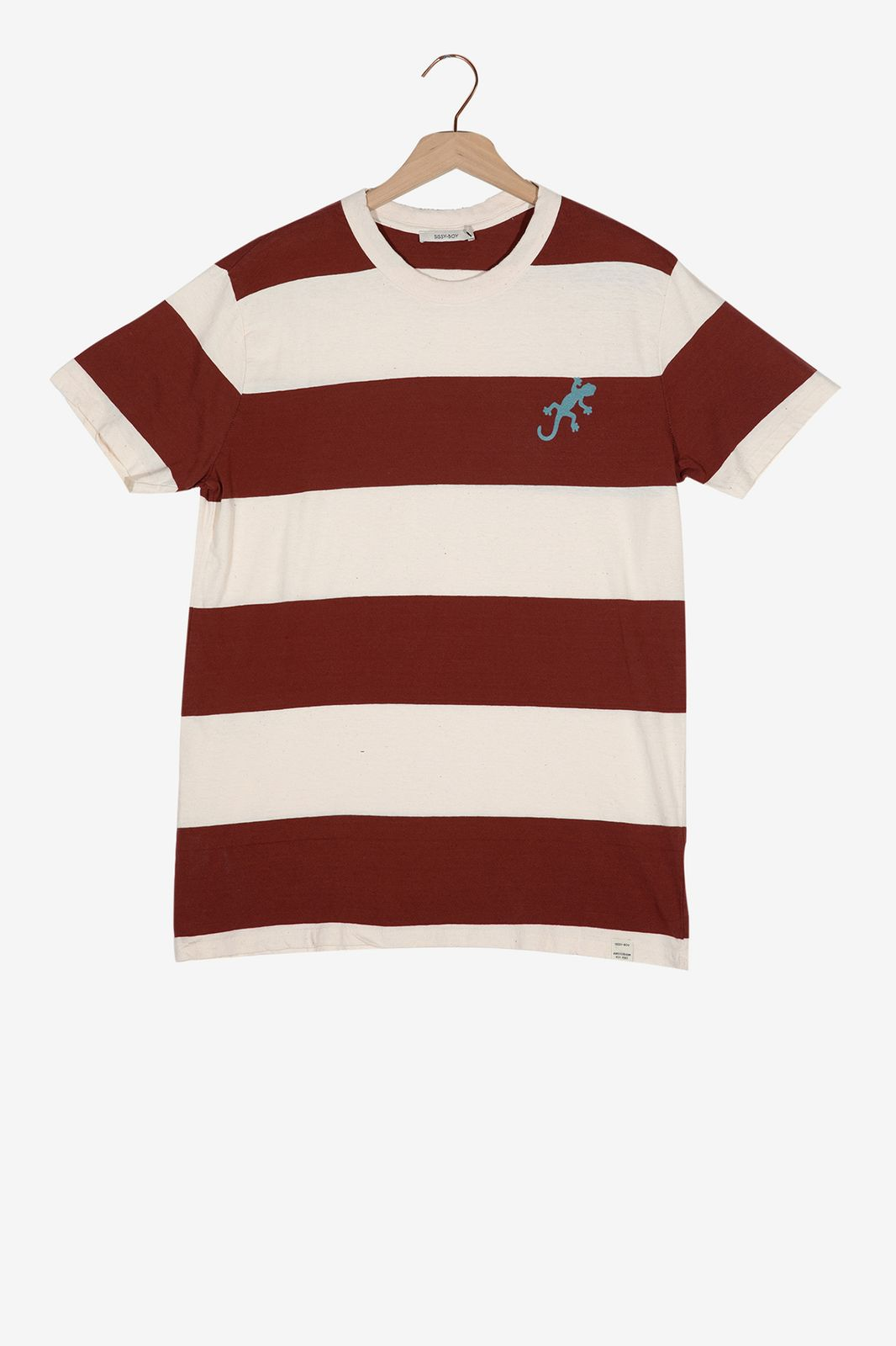 Rood gestreept t-shirt