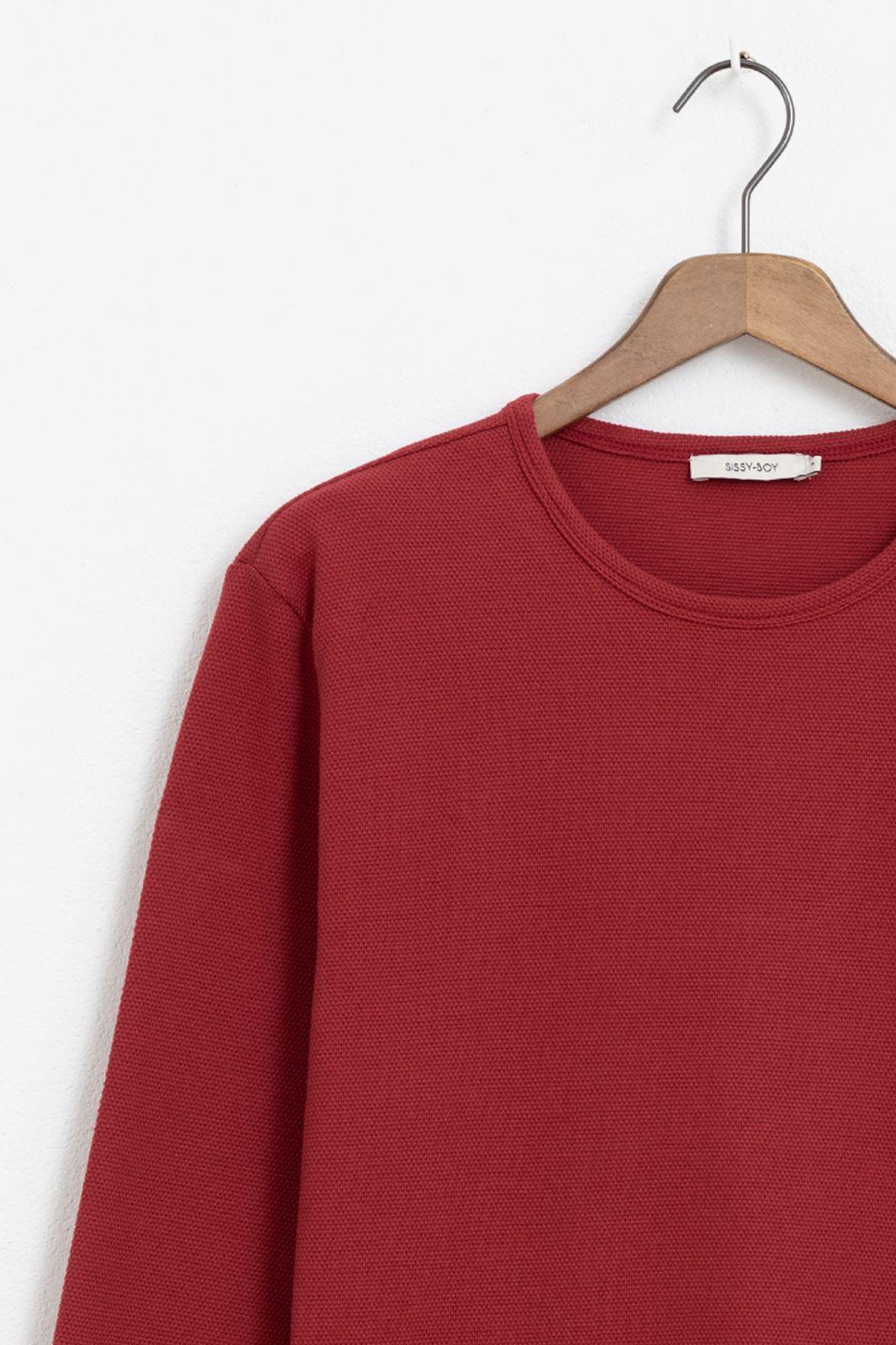 Rood T-shirt structuur - Heren | Sissy-Boy