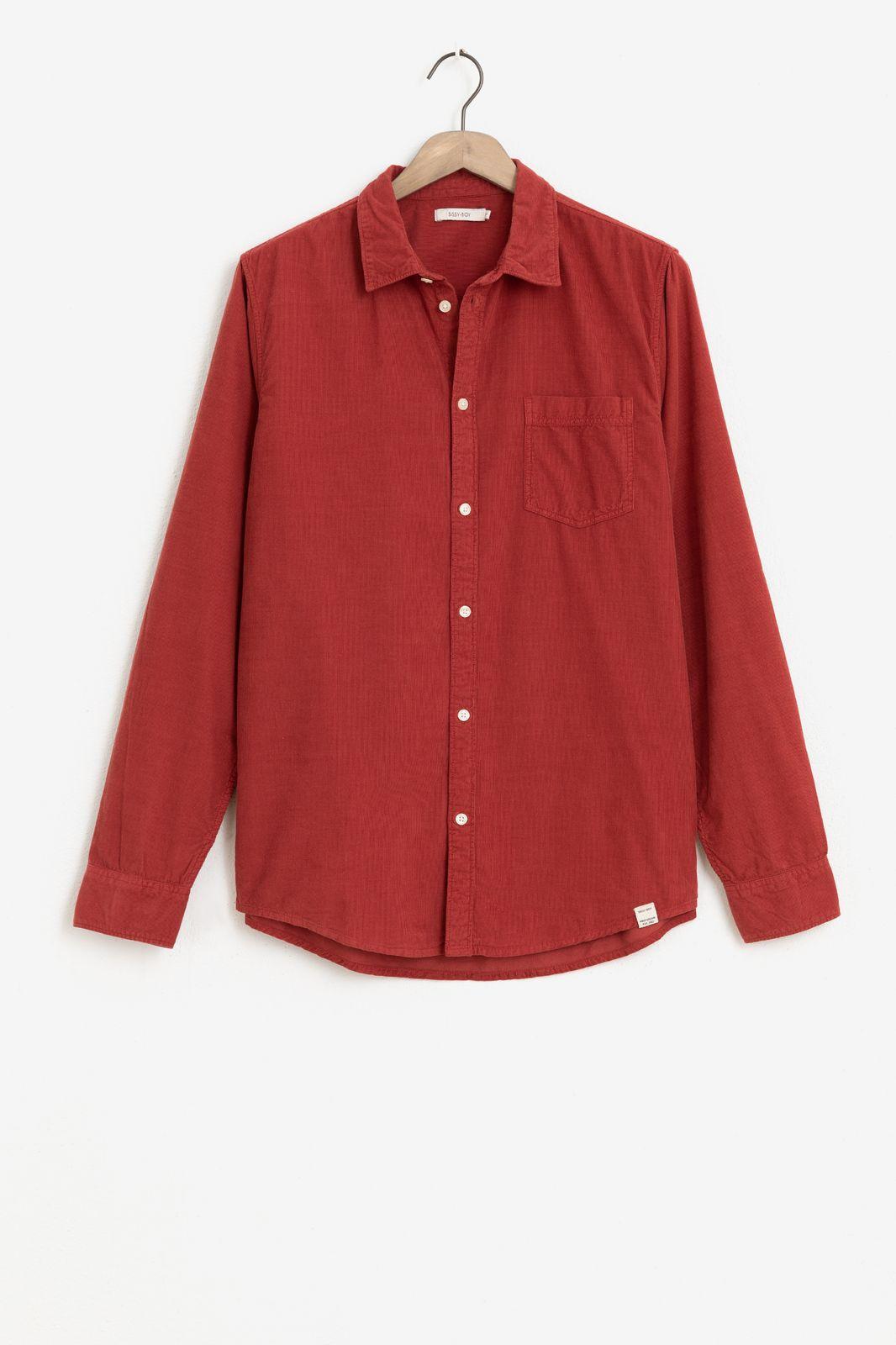 Donkerrood corduroy overhemd - Heren | Sissy-Boy