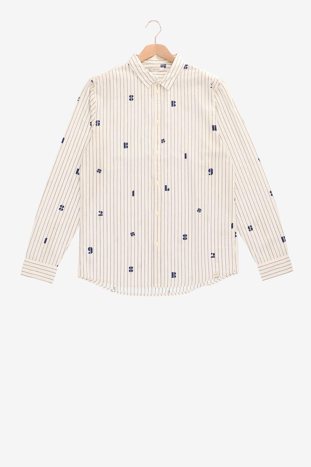 Wit overhemd met strepen - Heren   Sissy-Boy