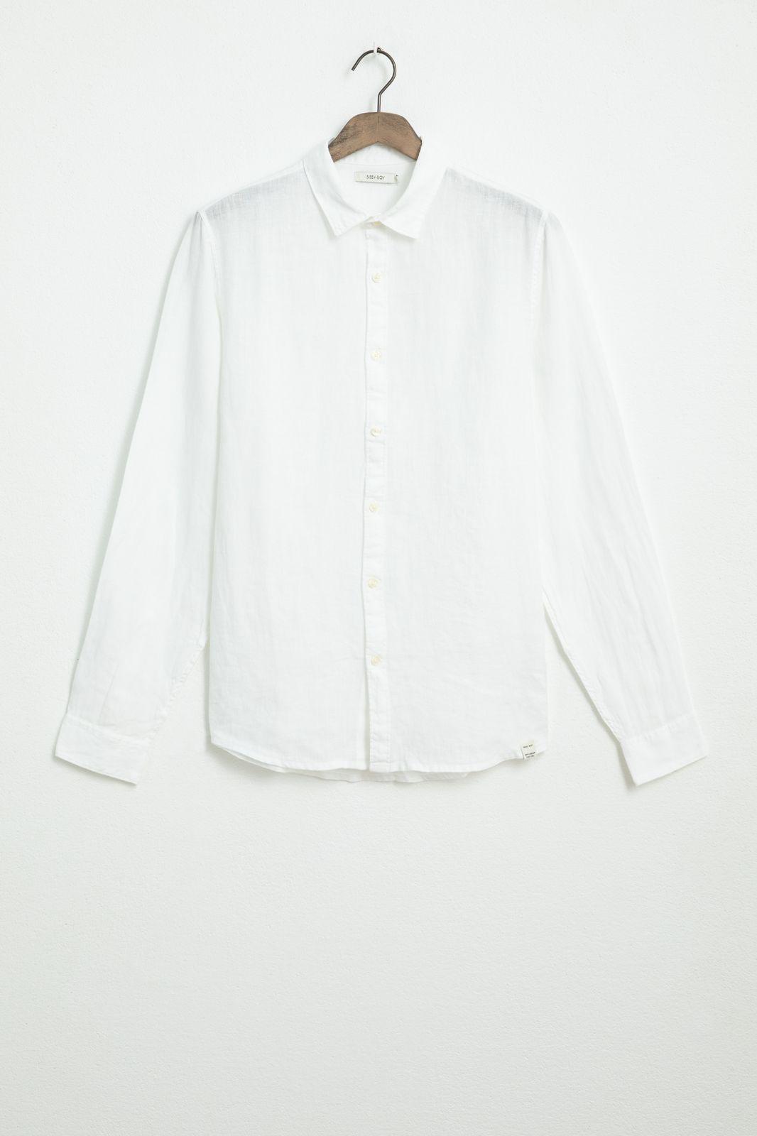 Wit linnen overhemd - Heren | Sissy-Boy