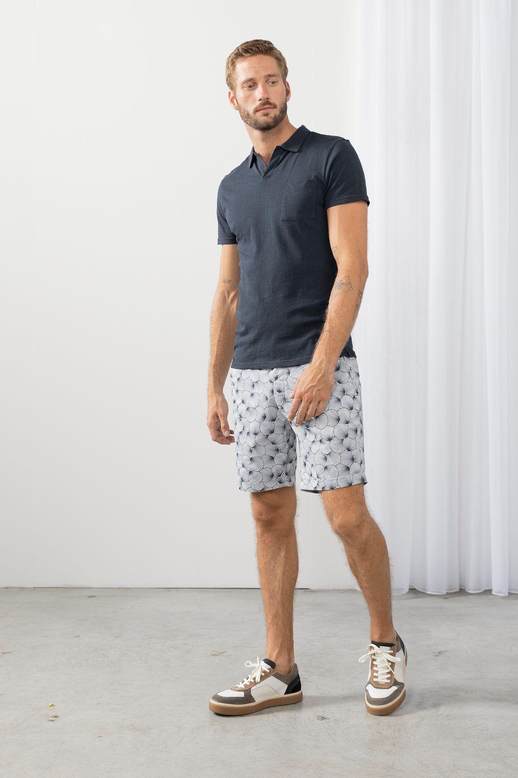 Chino shorts met all over schelpen print - Heren | Sissy-Boy