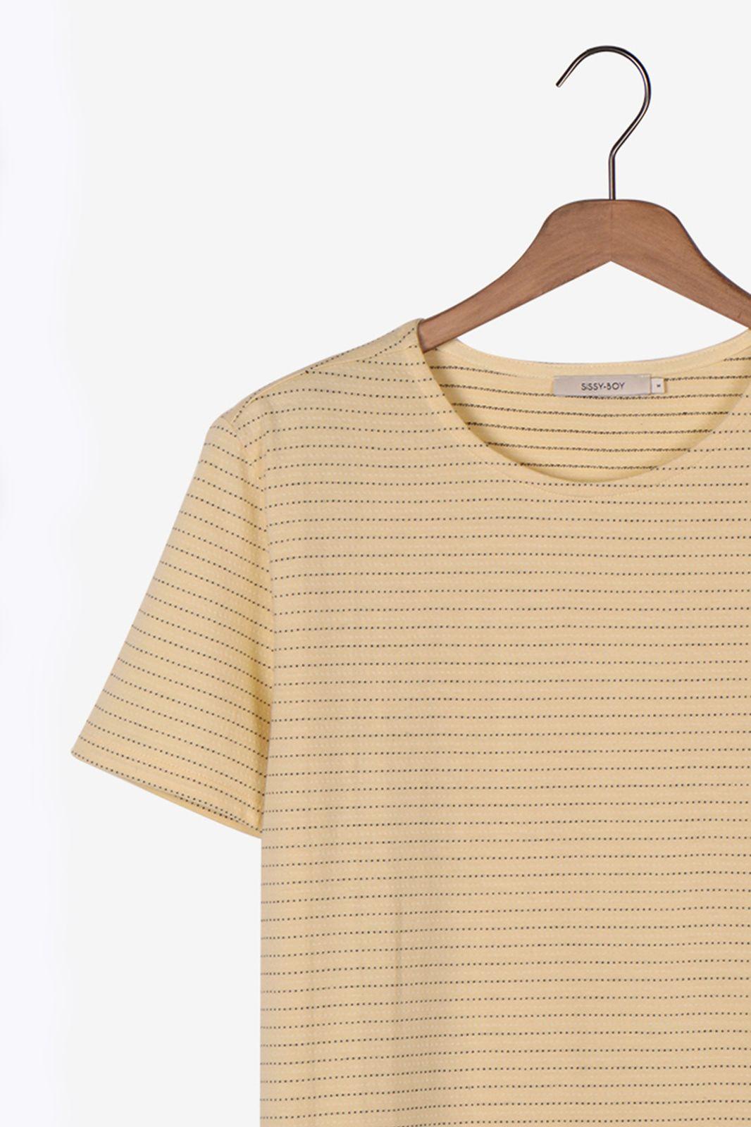 Geel t-shirt met dots - Heren | Sissy-Boy