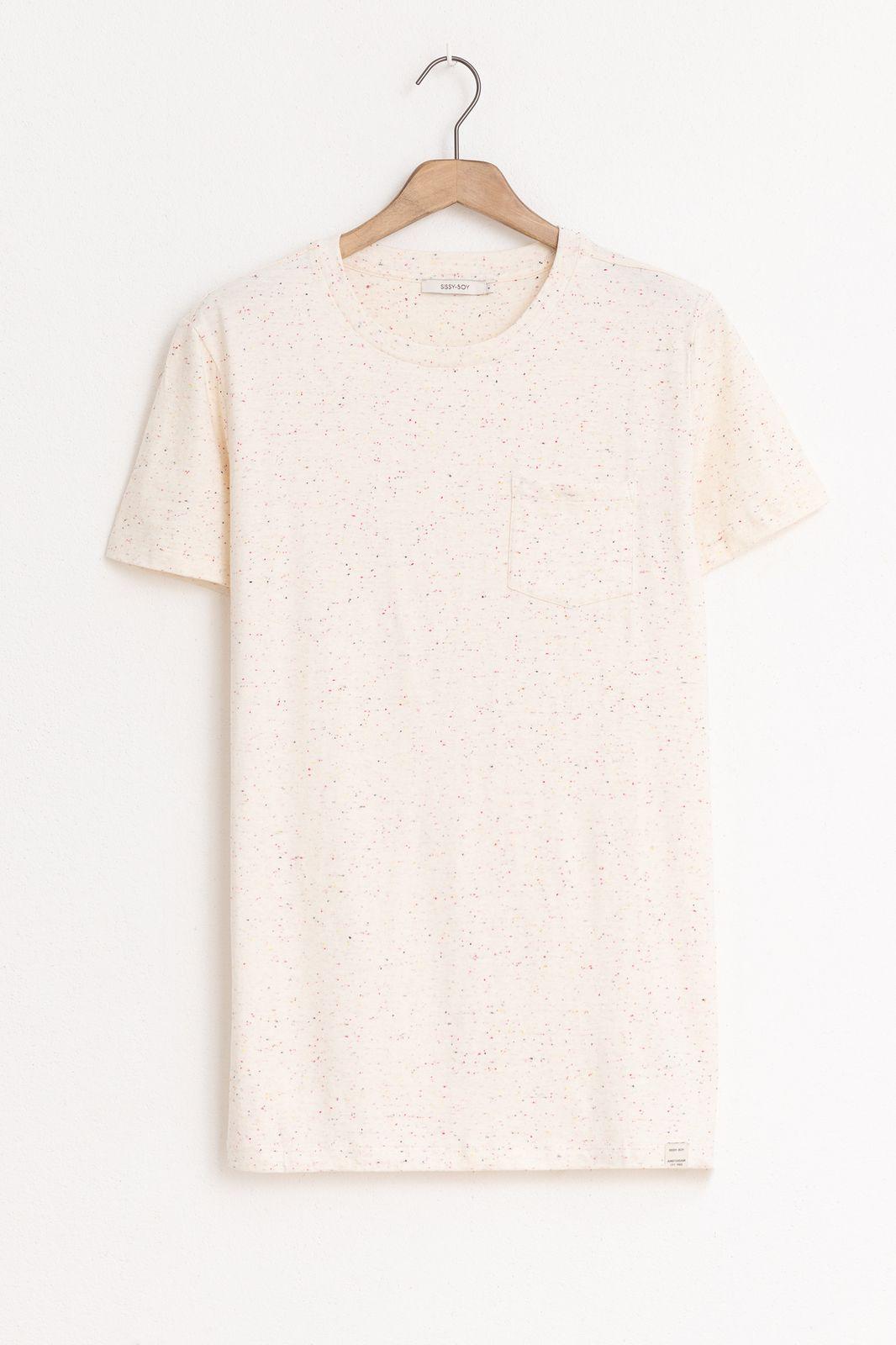 Wit t-shirt met borstzak Essential - Heren   Sissy-Boy
