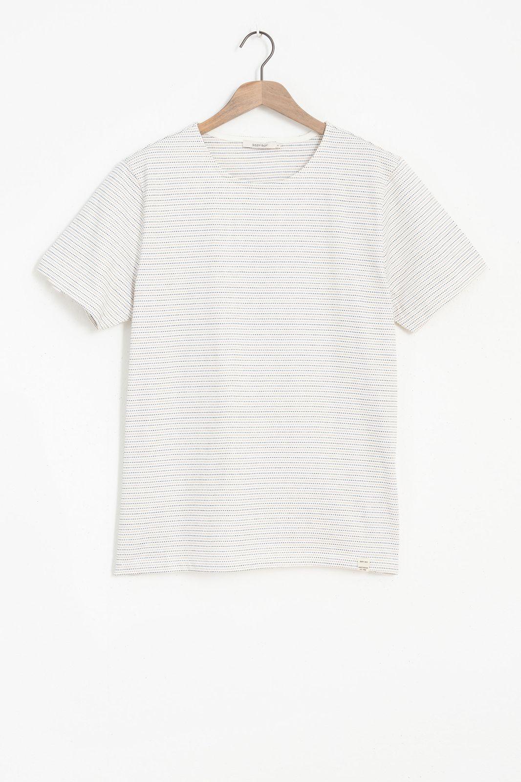 Wit T-shirt met dots