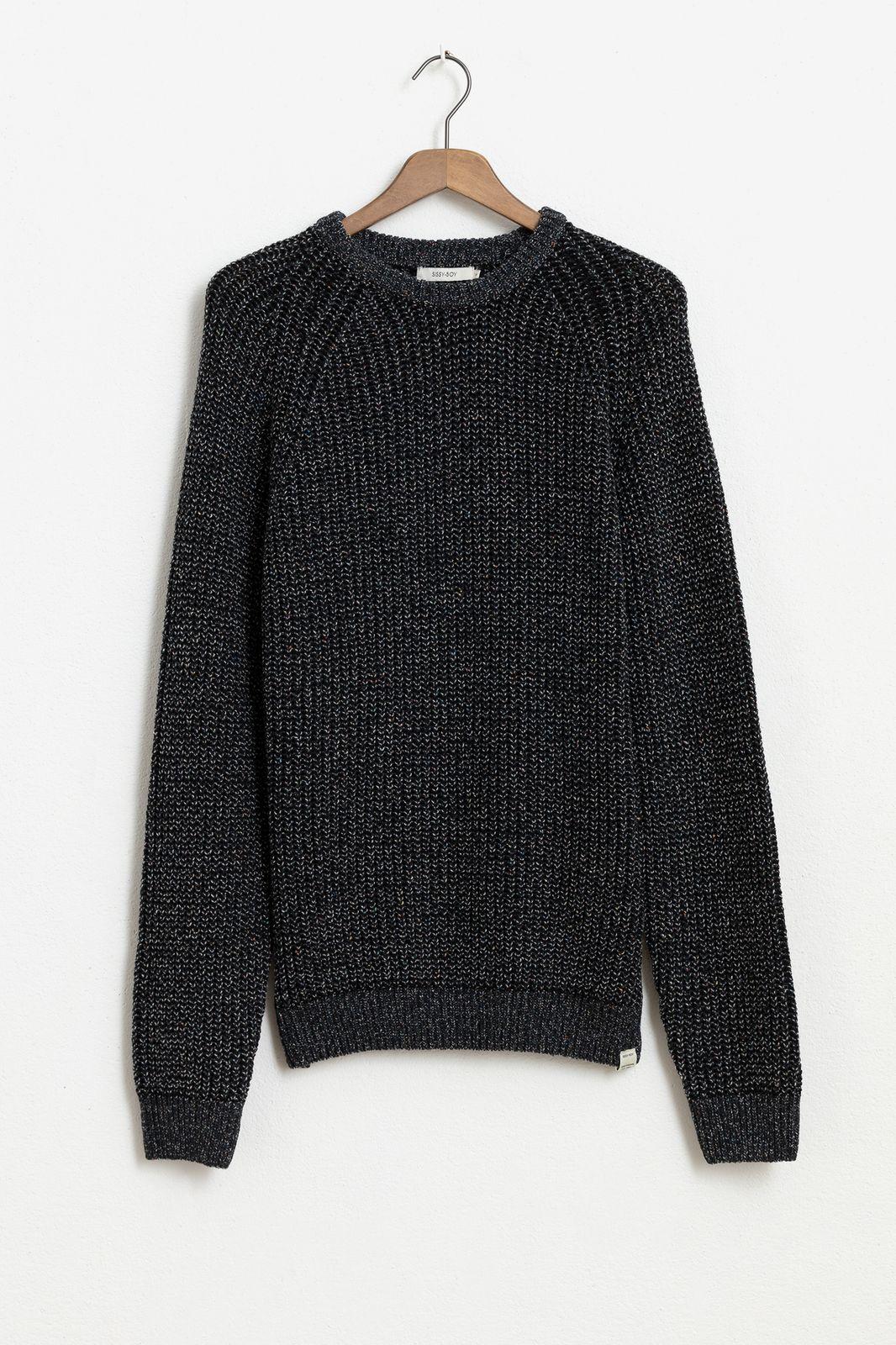 Zwarte katoenen trui