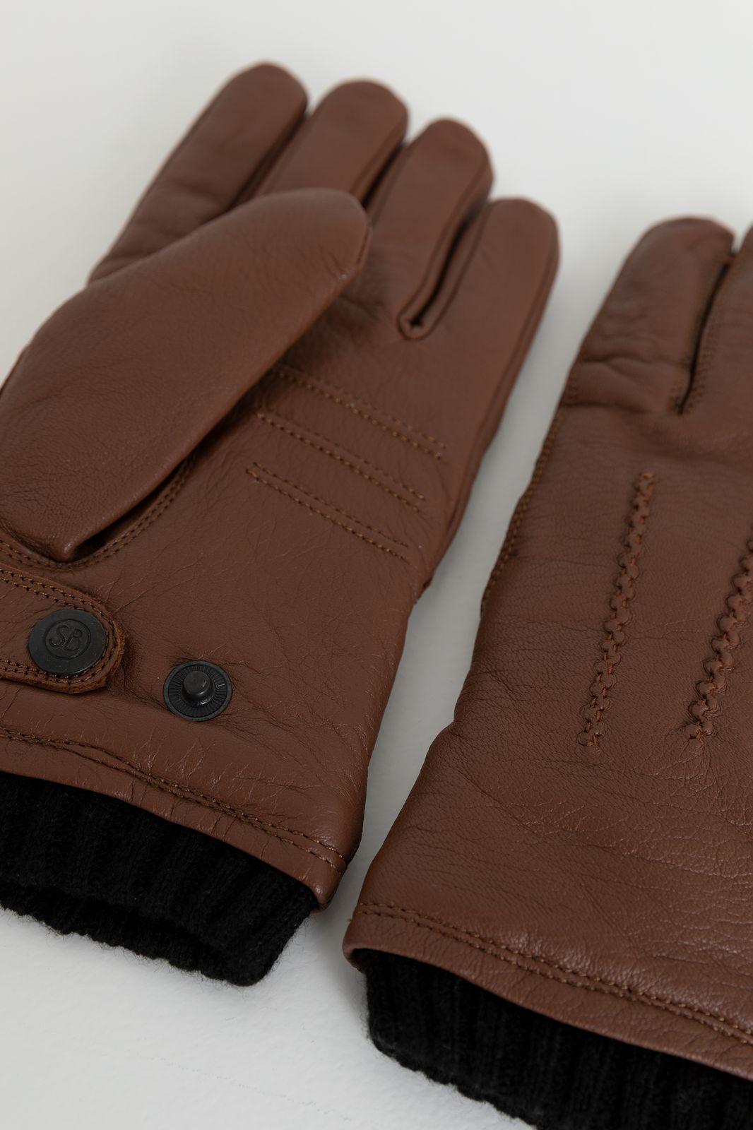 Bruin leren handschoenen - Heren   Sissy-Boy