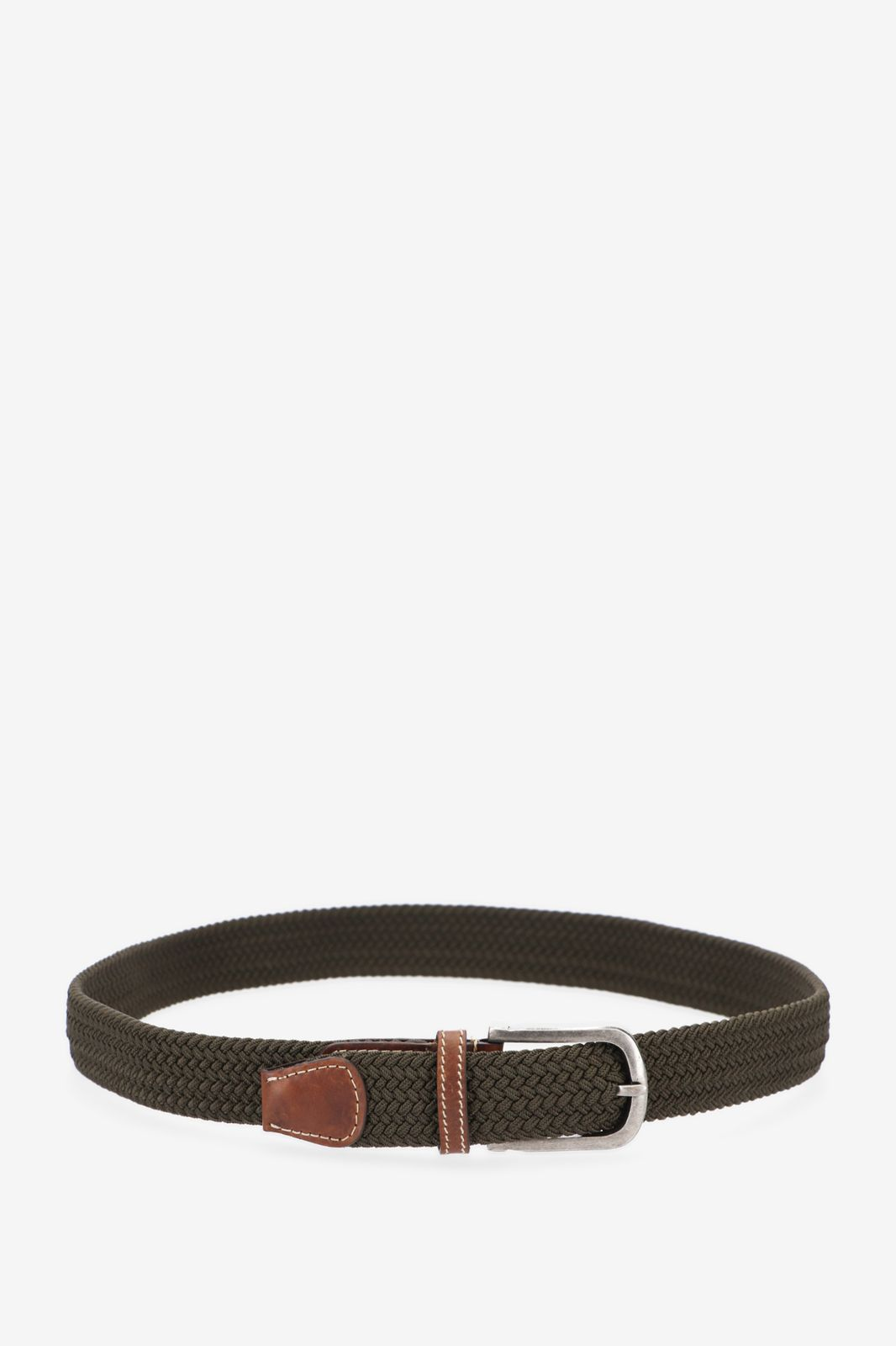 Donkergroene braided stretch belt - Heren | Sissy-Boy