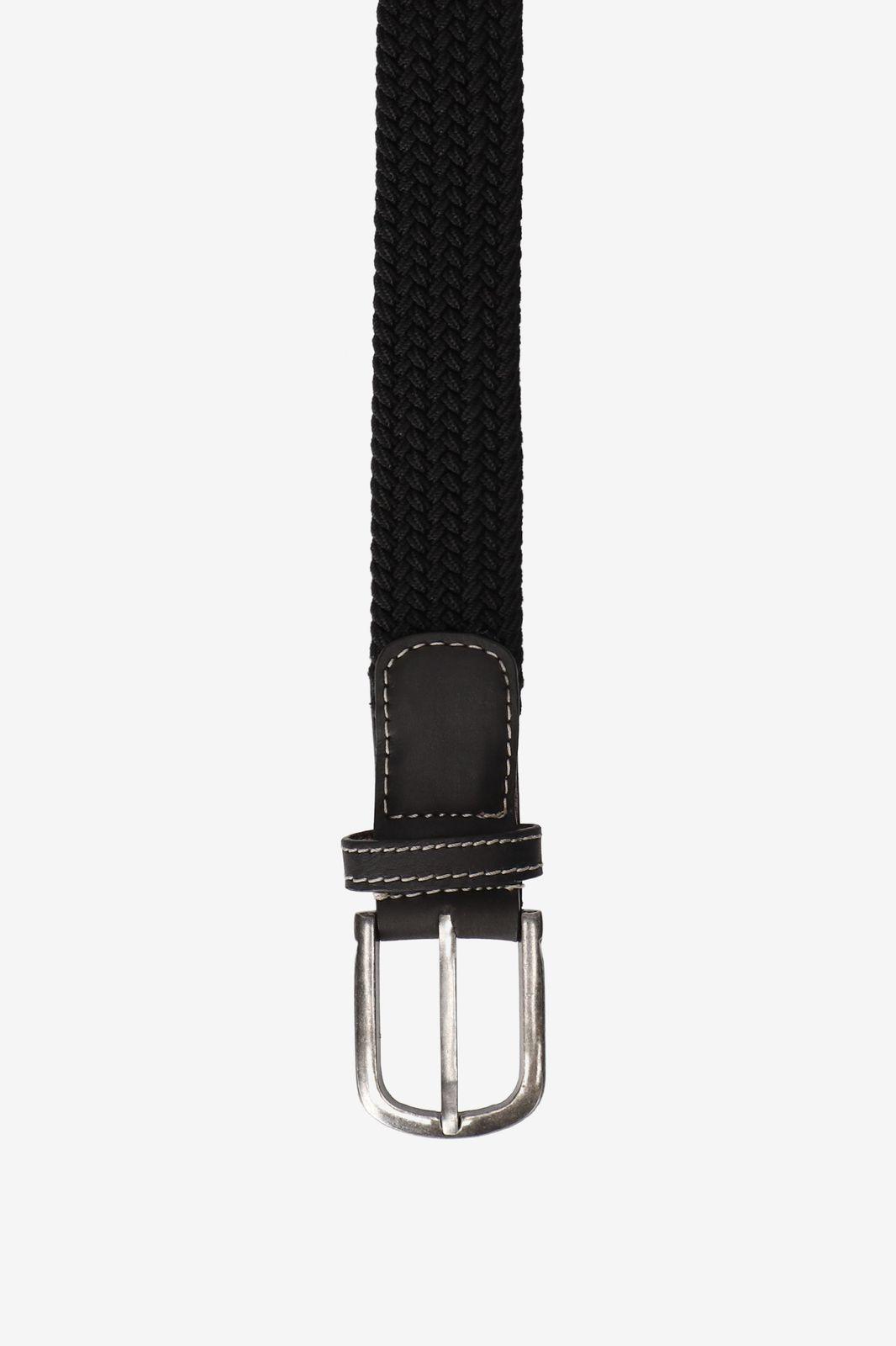 Zwarte braided stretch belt