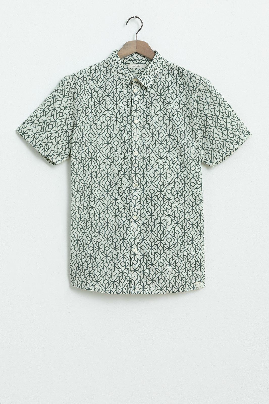 Overhemd met all over print en korte mouwen - Heren | Sissy-Boy