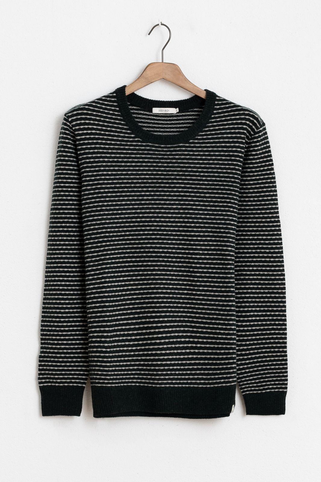 Donkergroen/witte trui gestreept - Heren | Sissy-Boy