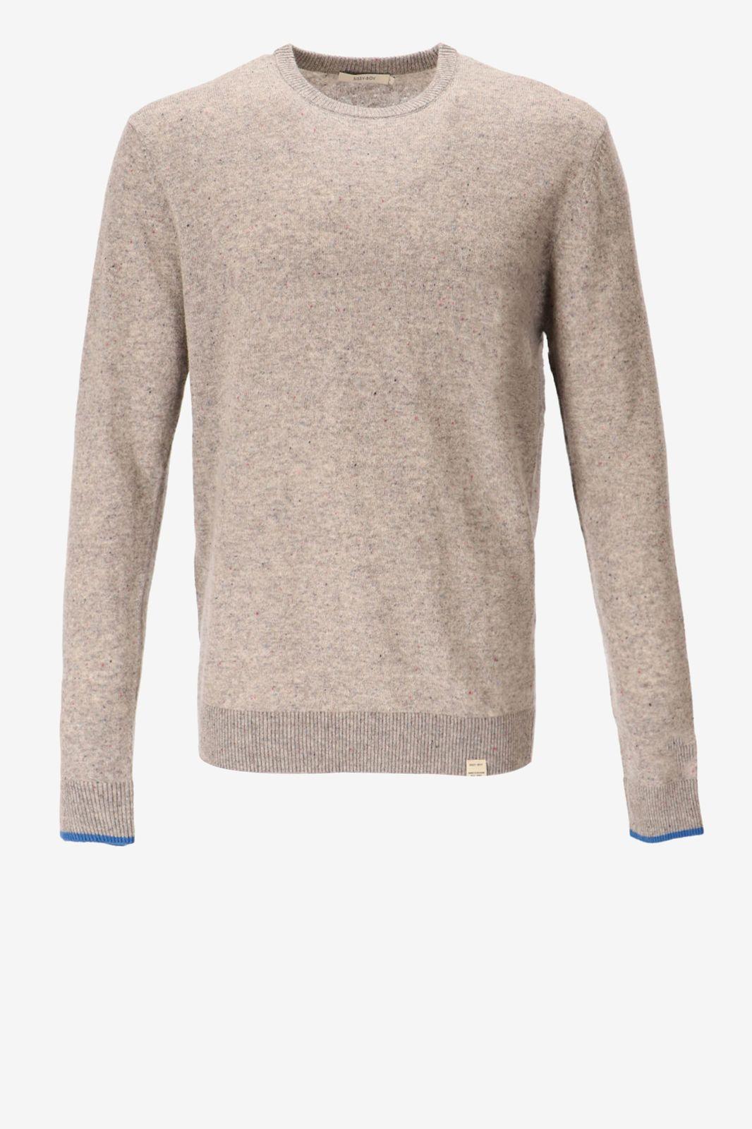 Fijngebreide grijze trui