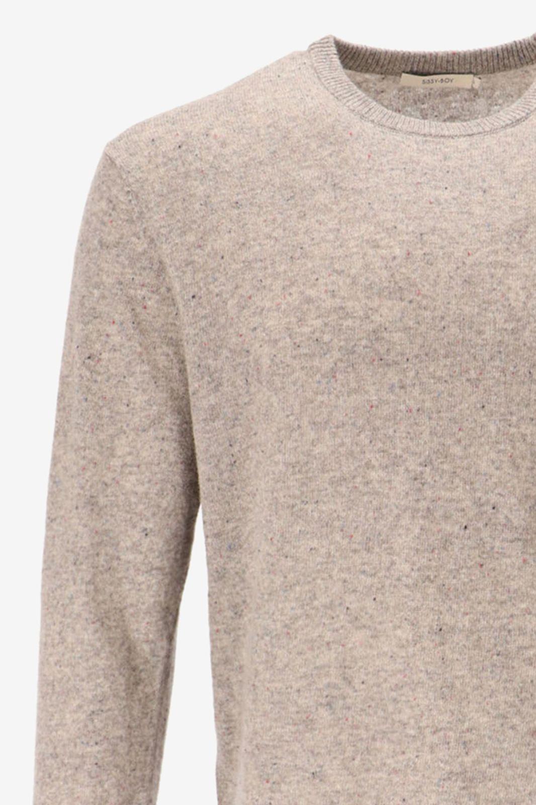 Fijngebreide grijze trui - Heren | Sissy-Boy