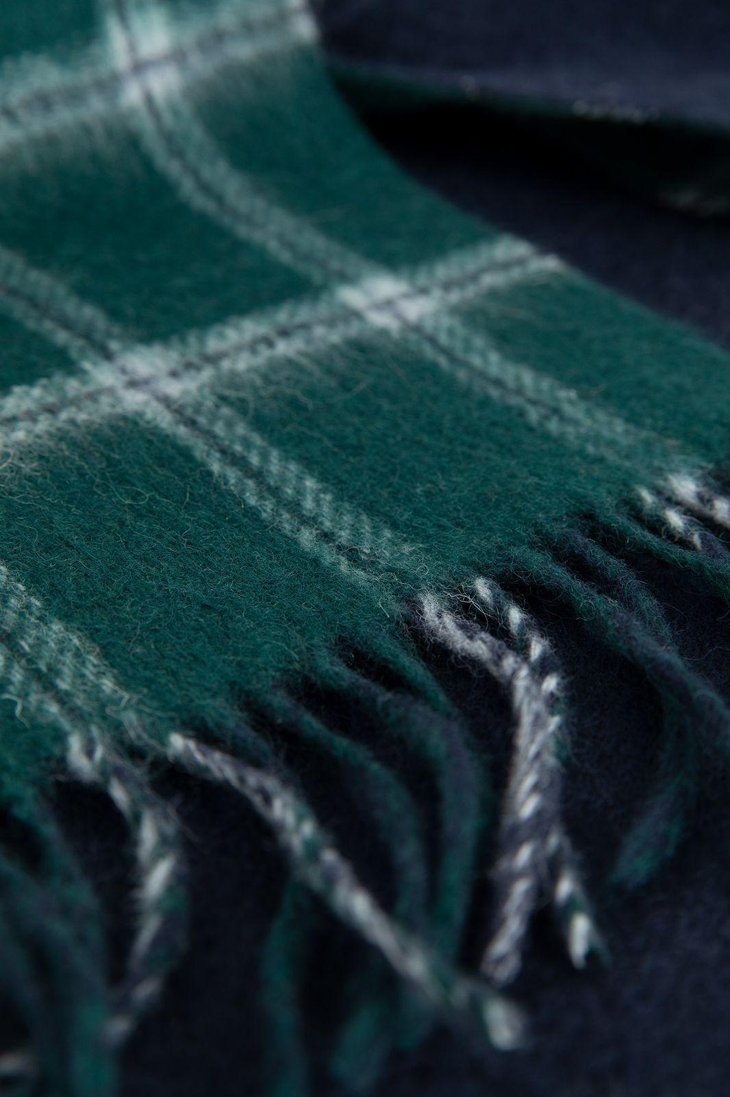 Groen melee wollen sjaal