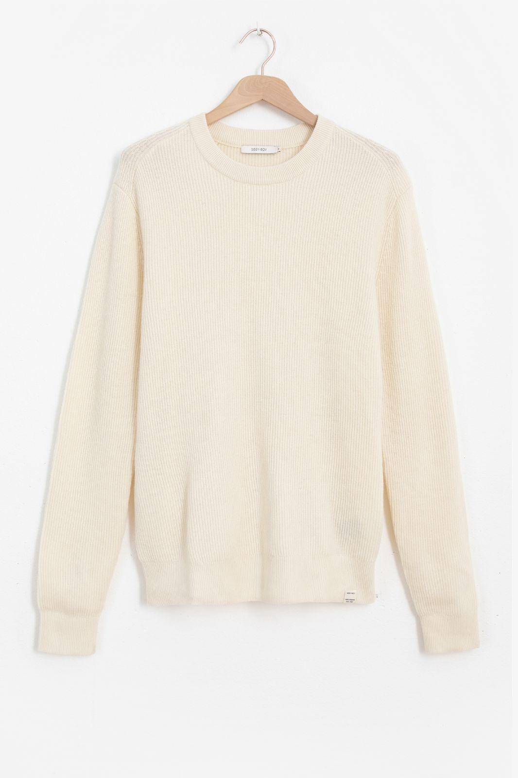 Witte cashmere trui - Heren   Sissy-Boy