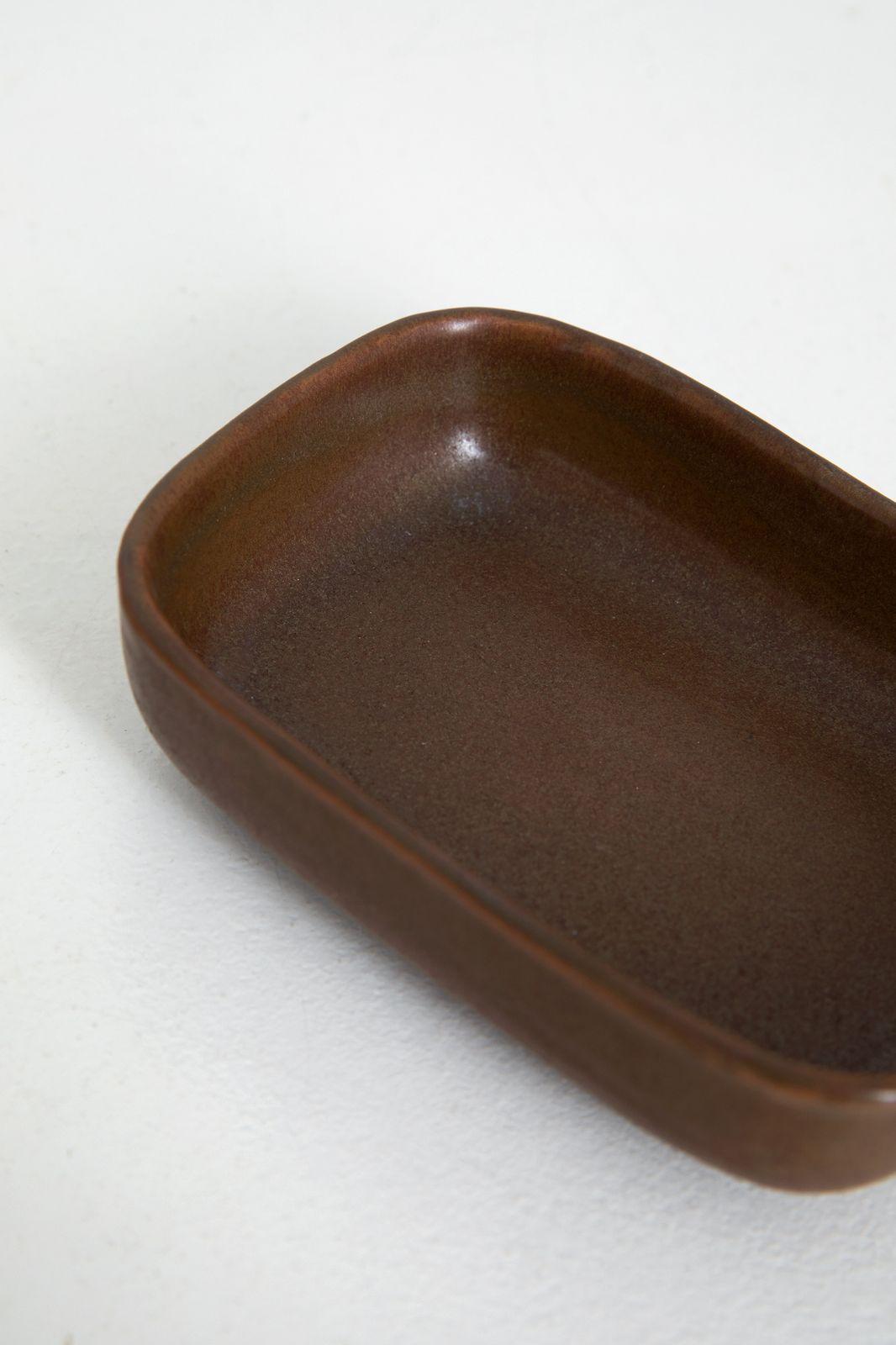 Stoneware zeepbakje groen