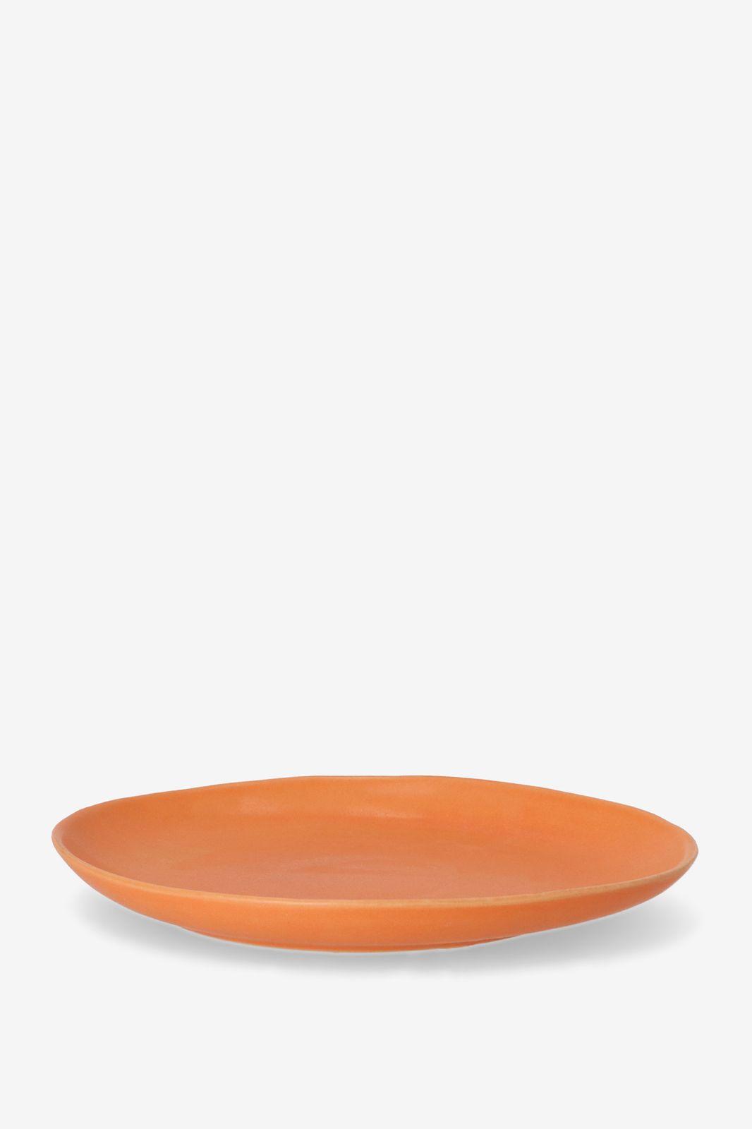 Oranje aardewerk salade bord