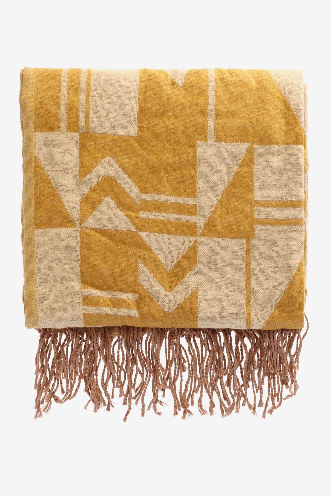 Gele deken met tegeltjes patroon - Homeland | Sissy-Boy