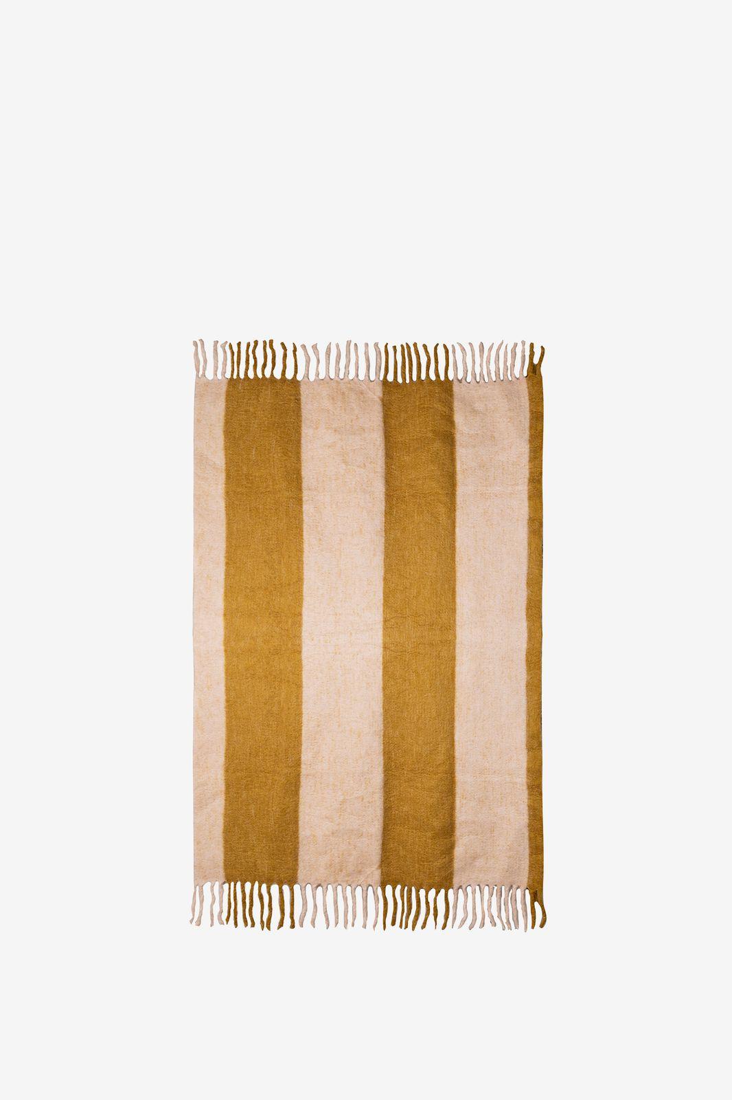 Geel deken met strepen
