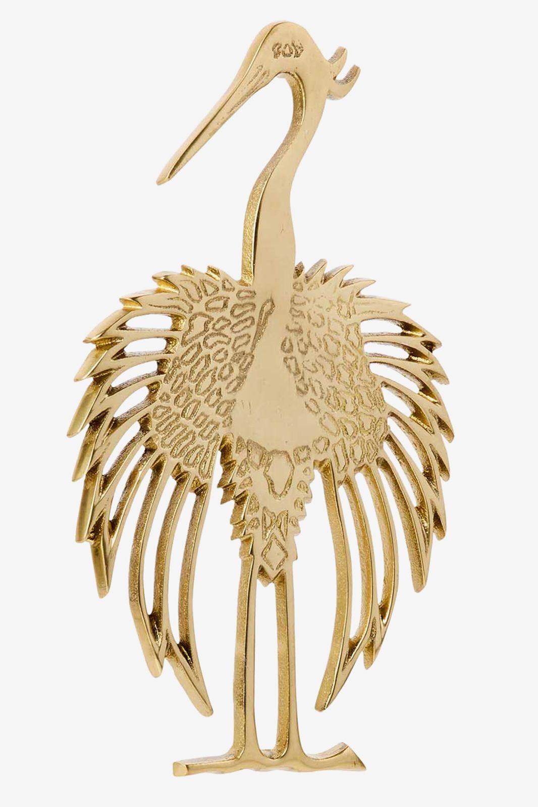 Gouden onderzetter kraanvogel