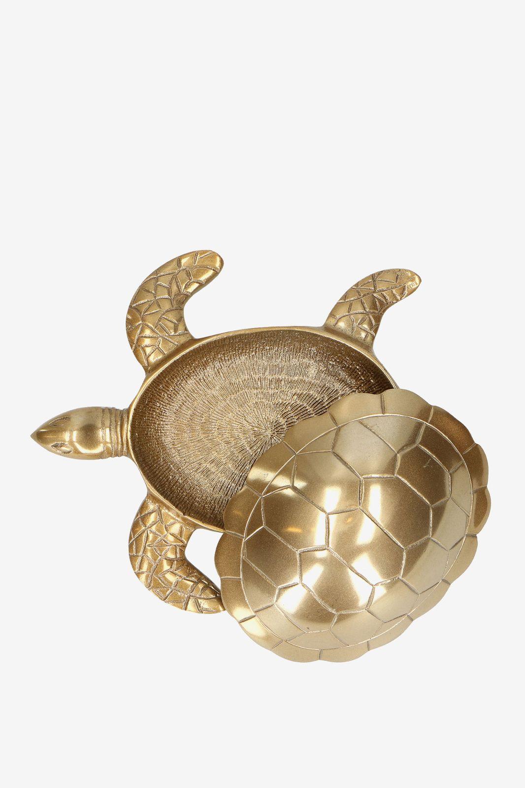 Goud opbergdoosje schildpad