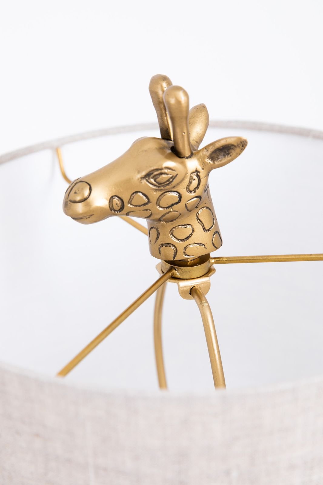 Goudkleurige tafellamp giraffe